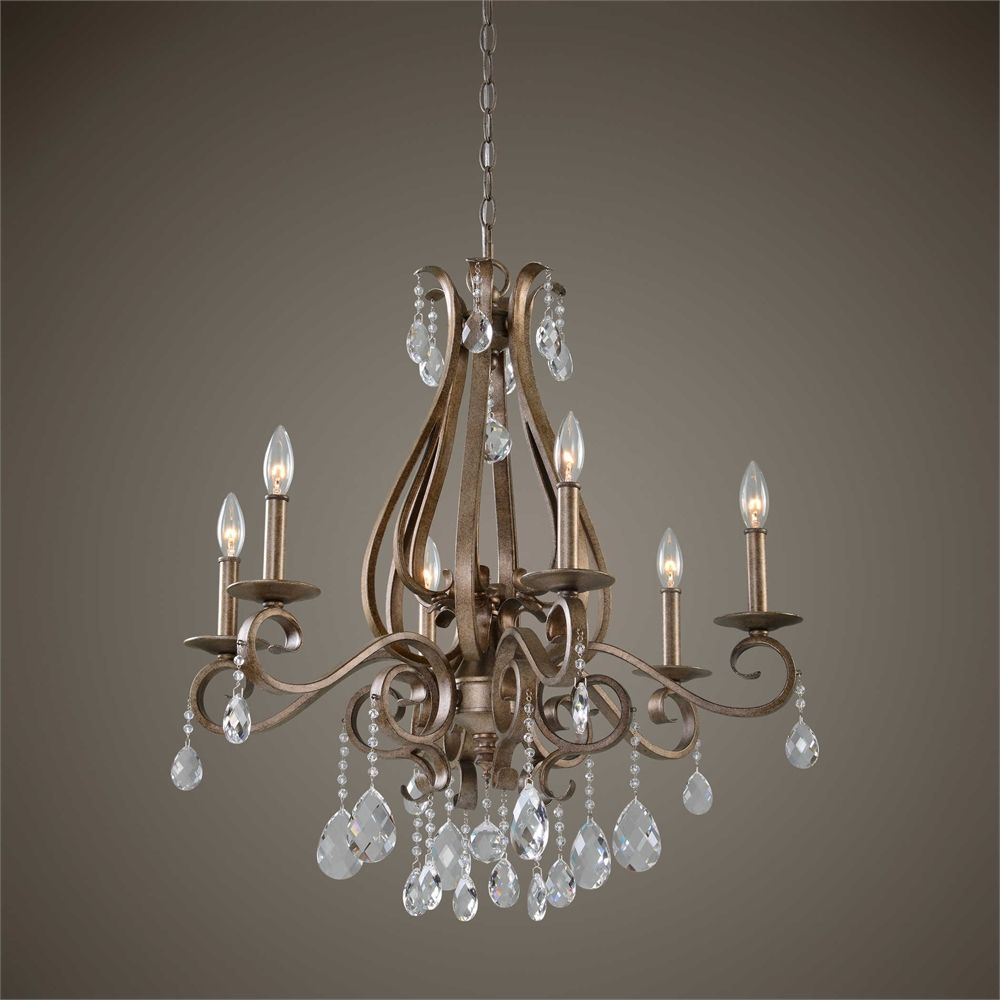 Uttermost Siobhan 6 Light Crystal Chandelier | Chandeliers with regard to Sherri 6-Light Chandeliers (Image 27 of 30)