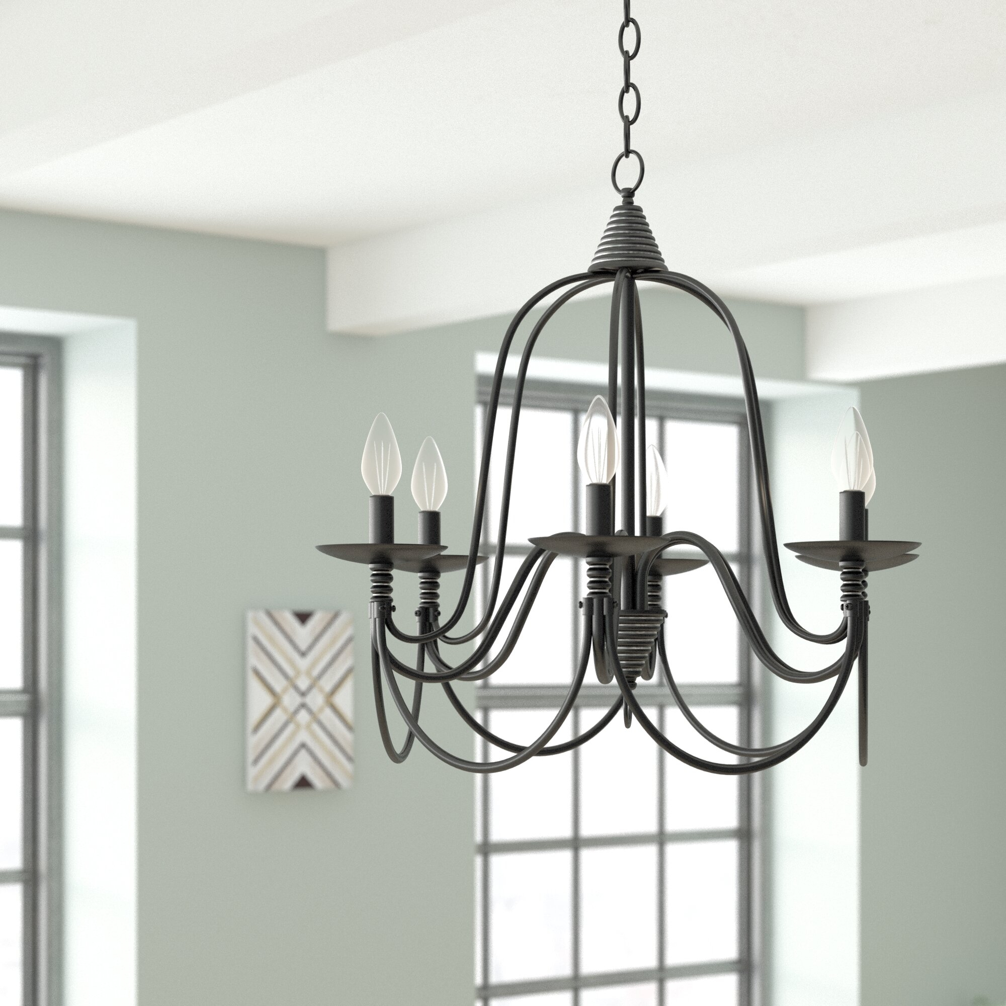 Vahe 6-Light Chandelier for Watford 6-Light Candle Style Chandeliers (Image 22 of 30)