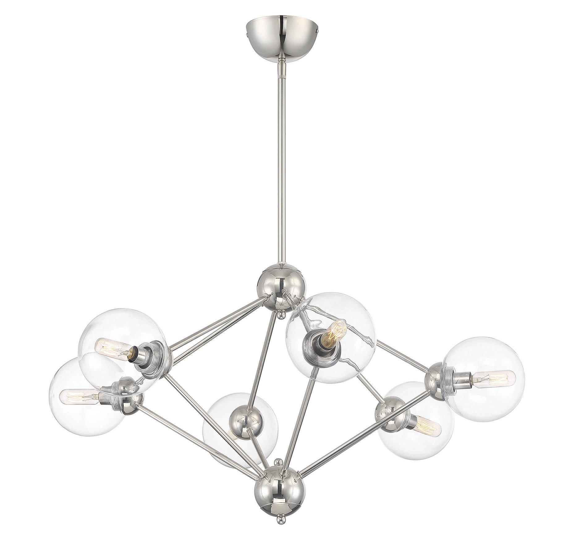 Valetta 6-Light Geometric Chandelier with regard to Johanne 6-Light Sputnik Chandeliers (Image 28 of 30)
