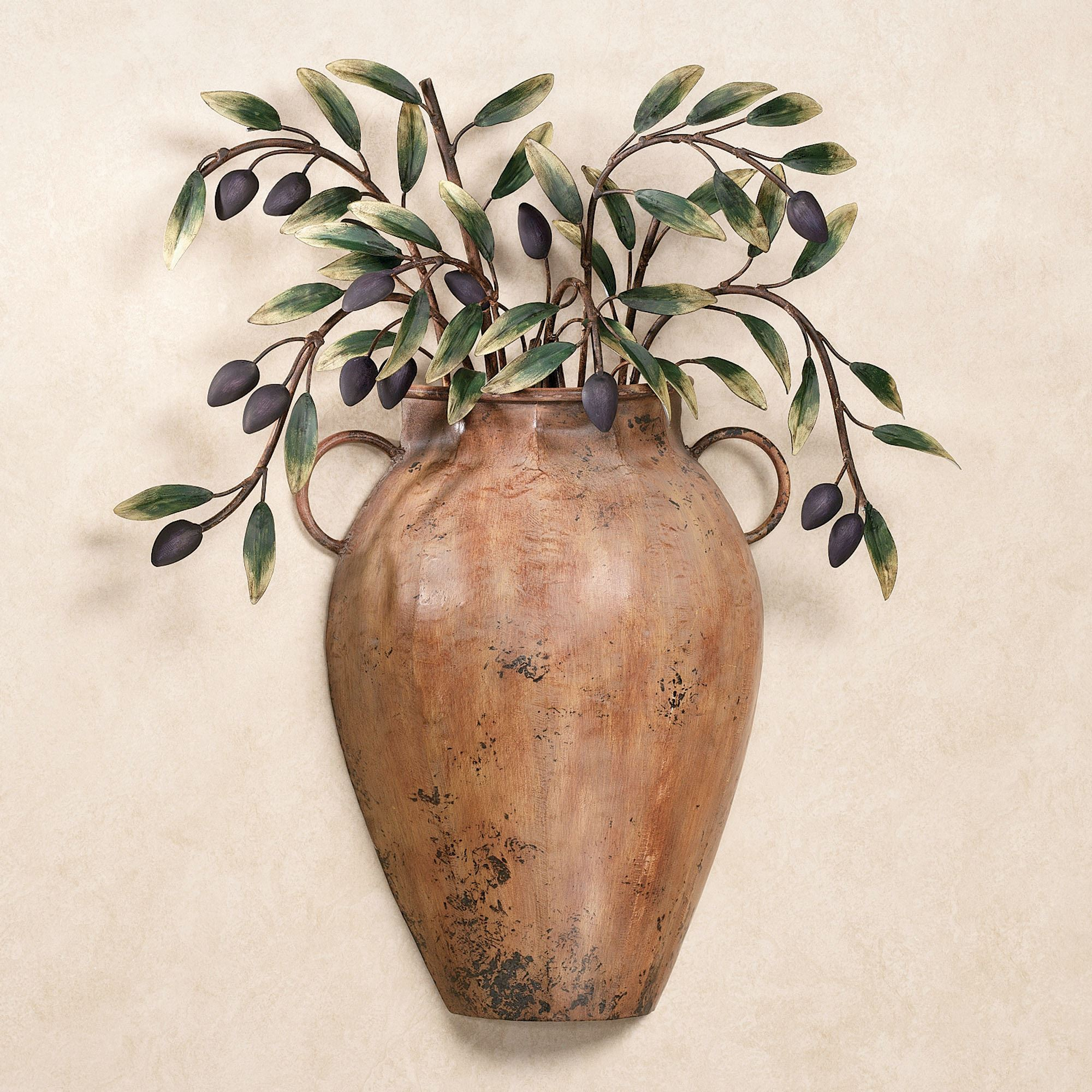 Valetta Vaso Con Olives Metal Wall Sculpture for Scattered Metal Italian Plates Wall Decor (Image 26 of 30)