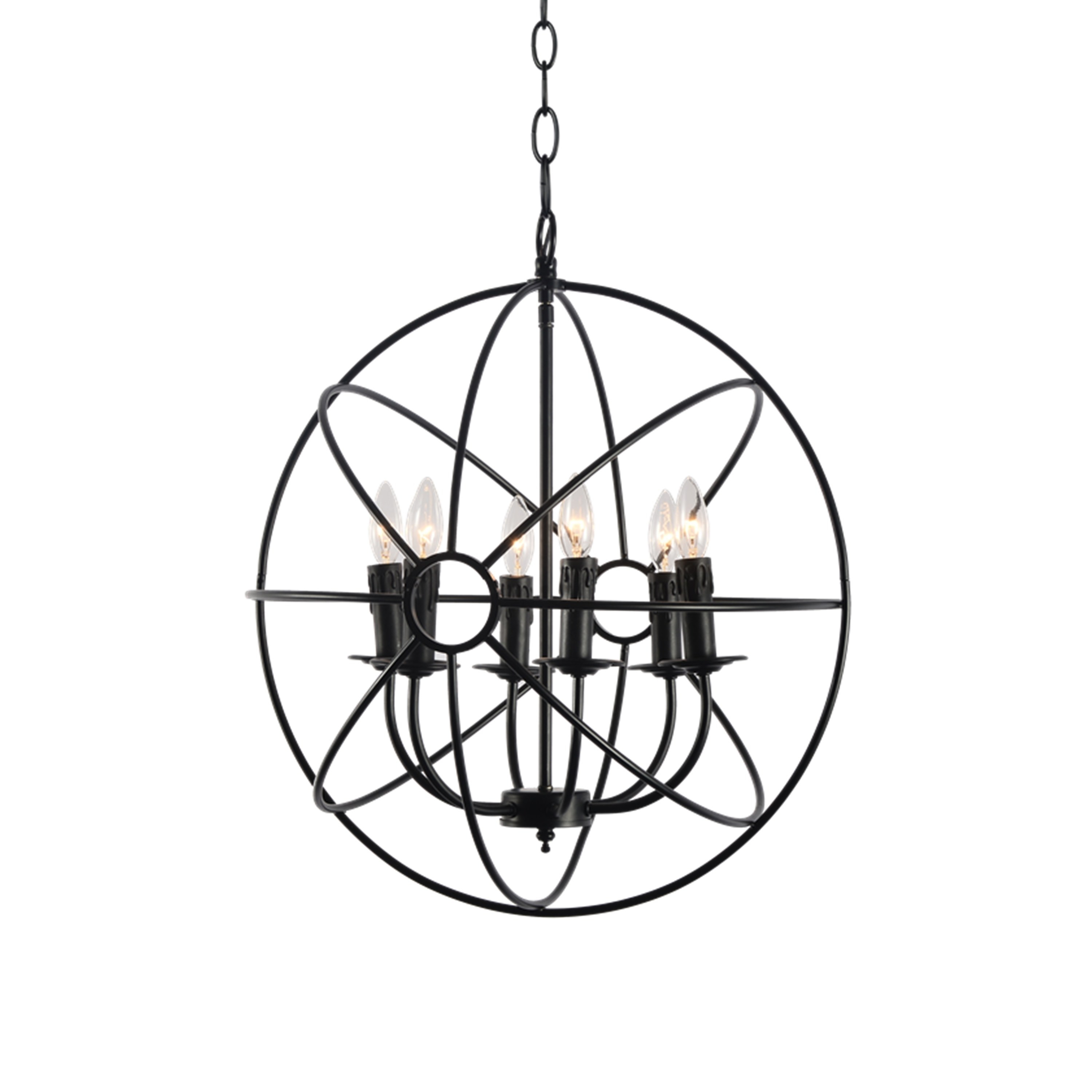 Vari Collection Six Light Chandelier | Products In 2019 regarding Waldron 5-Light Globe Chandeliers (Image 25 of 30)