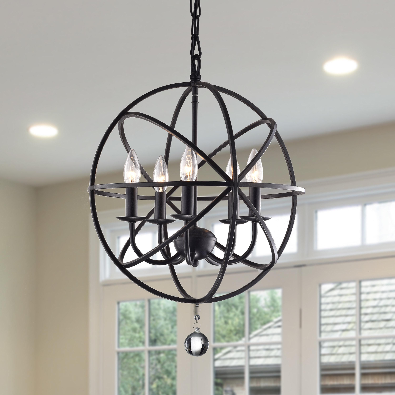 Verlene Foyer 5-Light Globe Chandelier intended for Shipststour 3-Light Globe Chandeliers (Image 30 of 30)