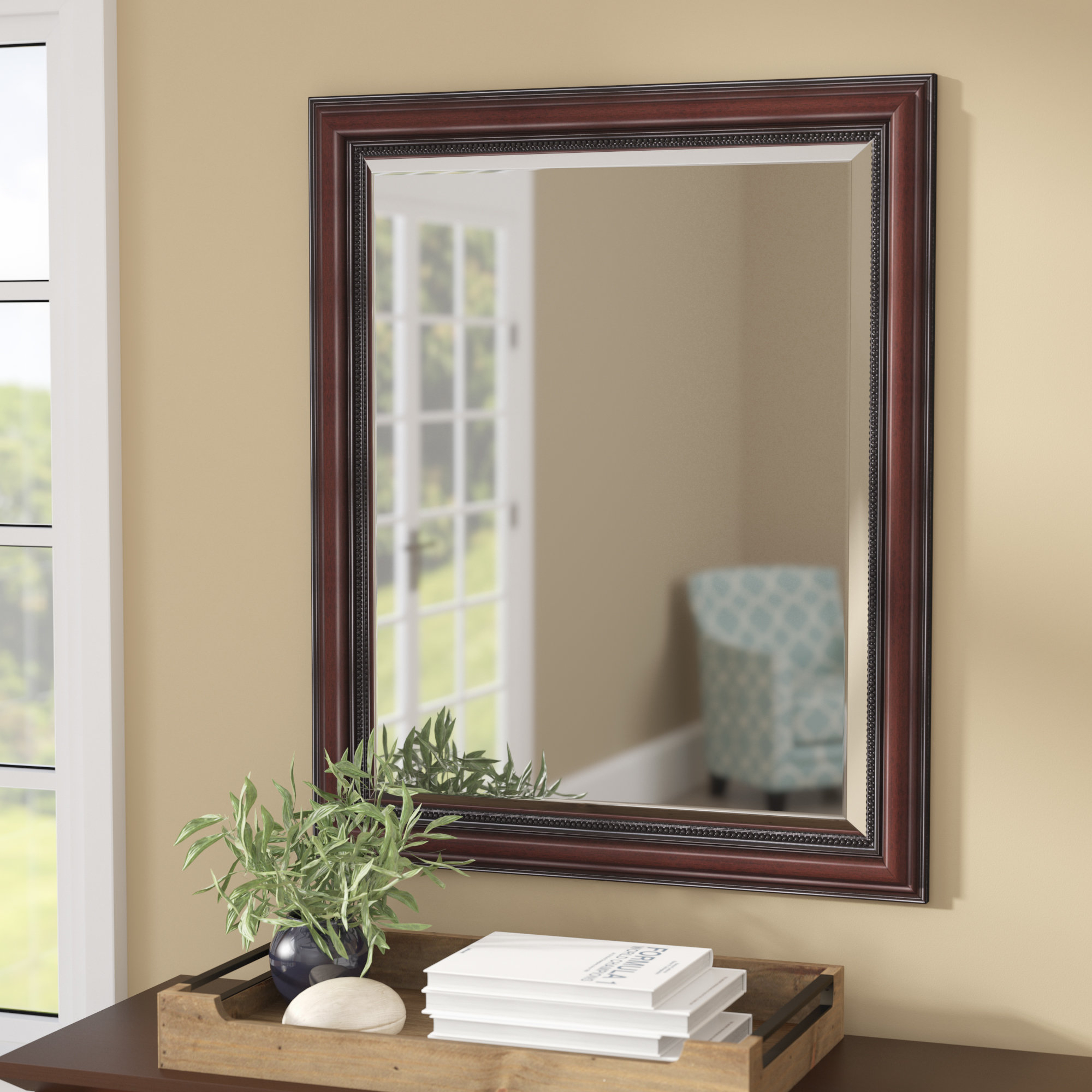 Verret Traditional Inner Beaded Bathroom/vanity Wall Mirror Throughout Beaded Accent Wall Mirrors (View 29 of 30)