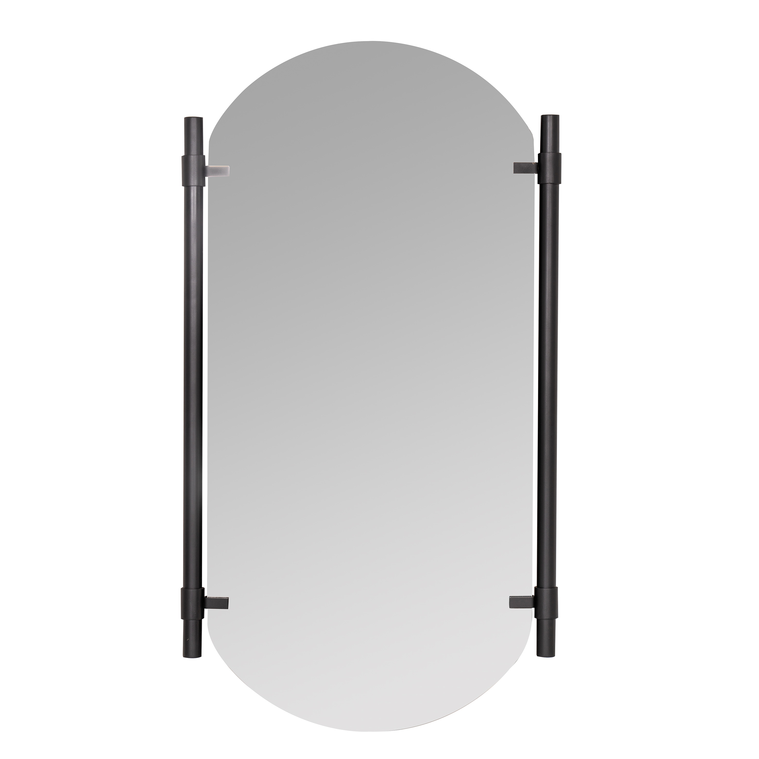 Vertical Black Phoebe Wall Mirror in Arch Vertical Wall Mirrors (Image 27 of 30)