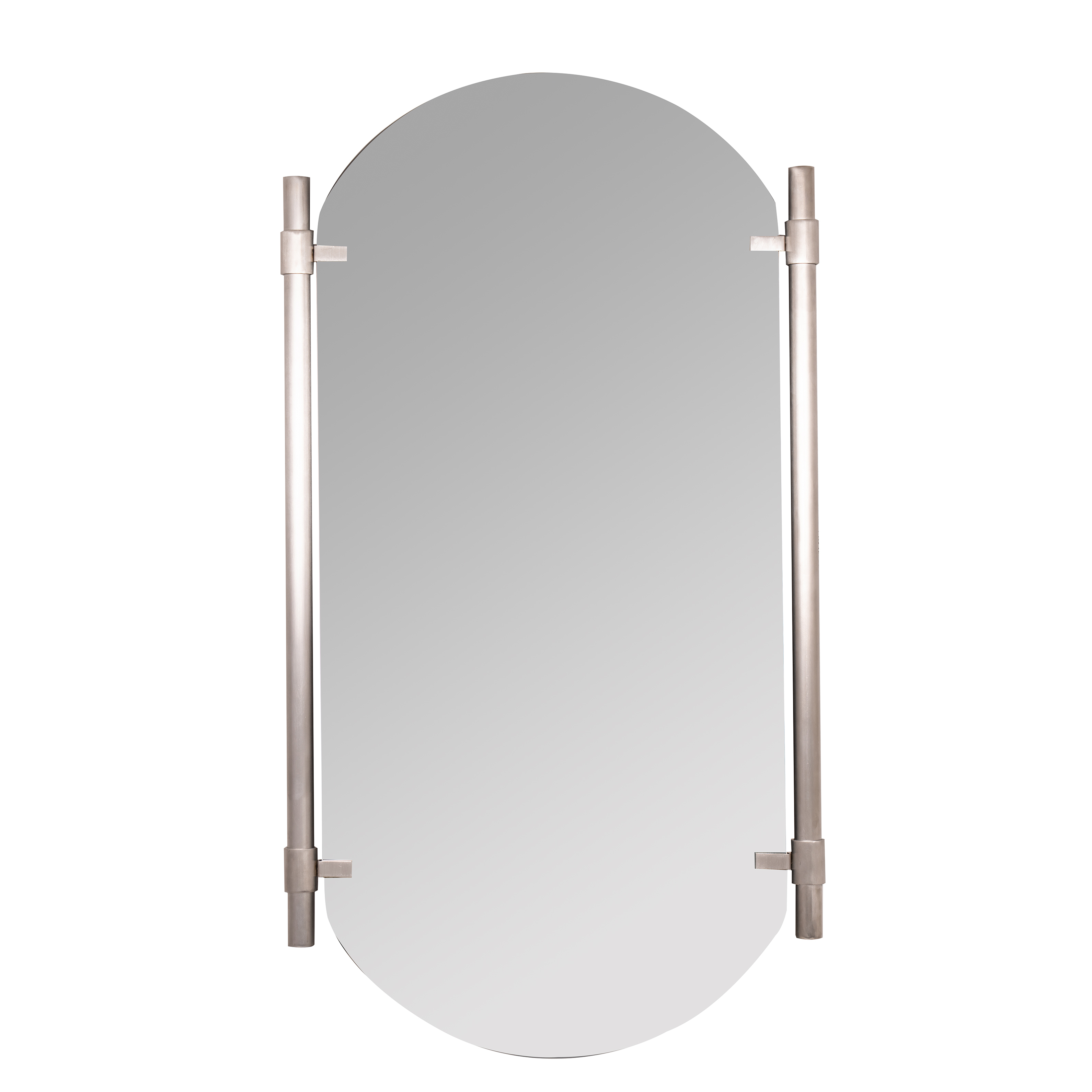 Vertical Silver Phoebe Wall Mirror pertaining to Arch Vertical Wall Mirrors (Image 28 of 30)