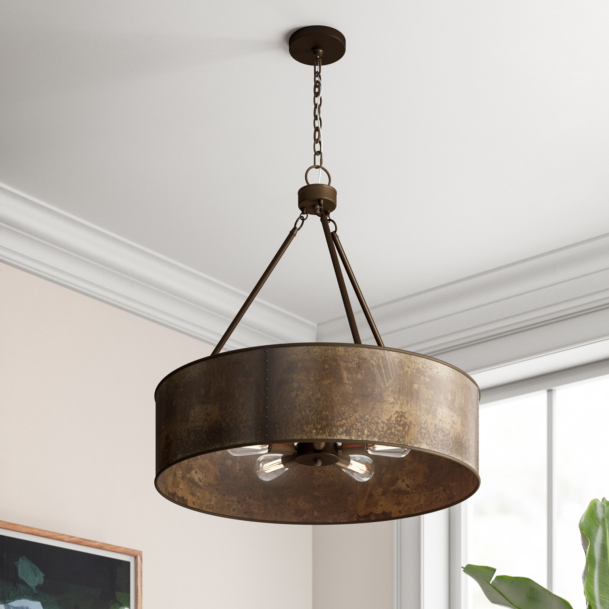 Vincent 5-Light Drum Chandelier & Reviews | Joss & Main regarding Montes 3-Light Drum Chandeliers (Image 25 of 30)