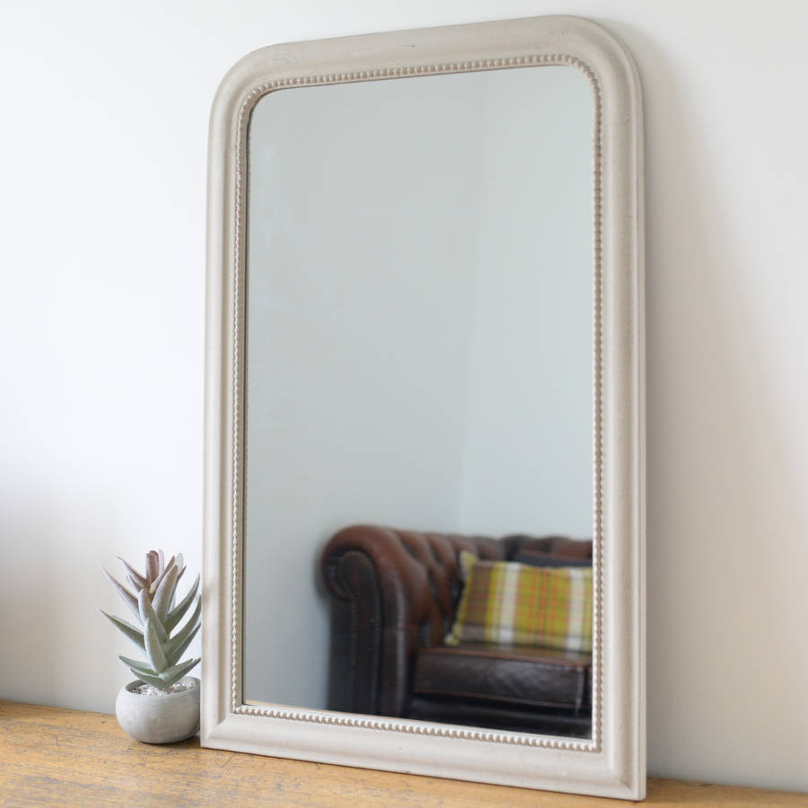 Vintage Edged Wall Mirror In Stone Intended For Gold Arch Wall Mirrors (View 30 of 30)