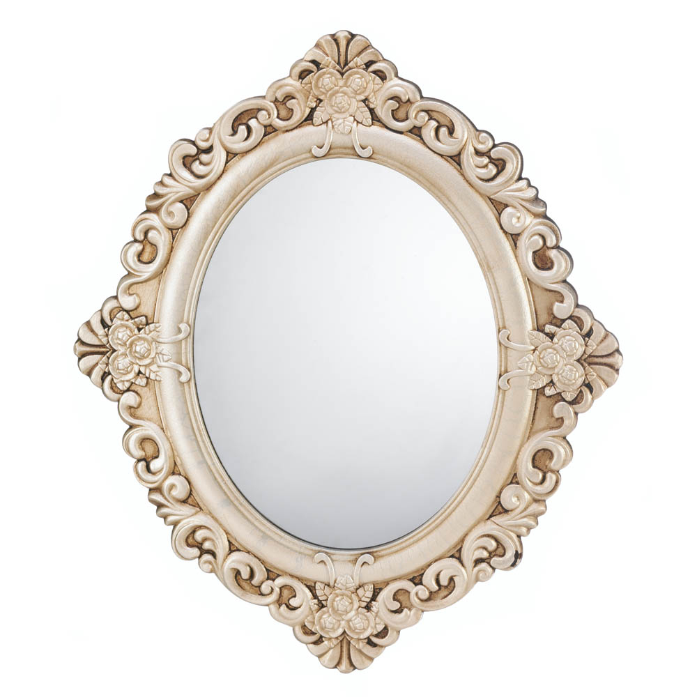 Vintage Estate Oval Wood Wall Mirror Within Oval Wood Wall Mirrors (View 26 of 30)