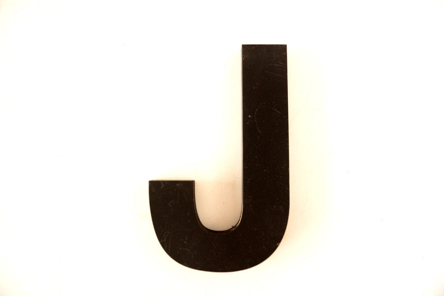 "Vintage Industrial Letter ""j"" 3D Sign Letter In Black Heavy intended for Mccue 11.5"" Typewriter Text Wall Decor (Image 26 of 30)"