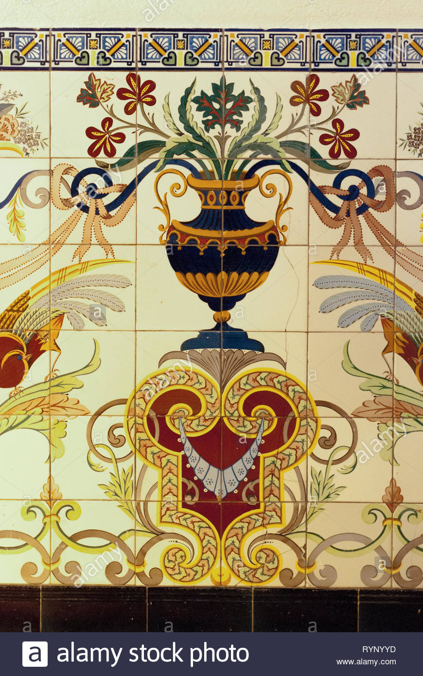 Vintage Pattern Of Spanish Art Wall Decoration (View 30 of 30)