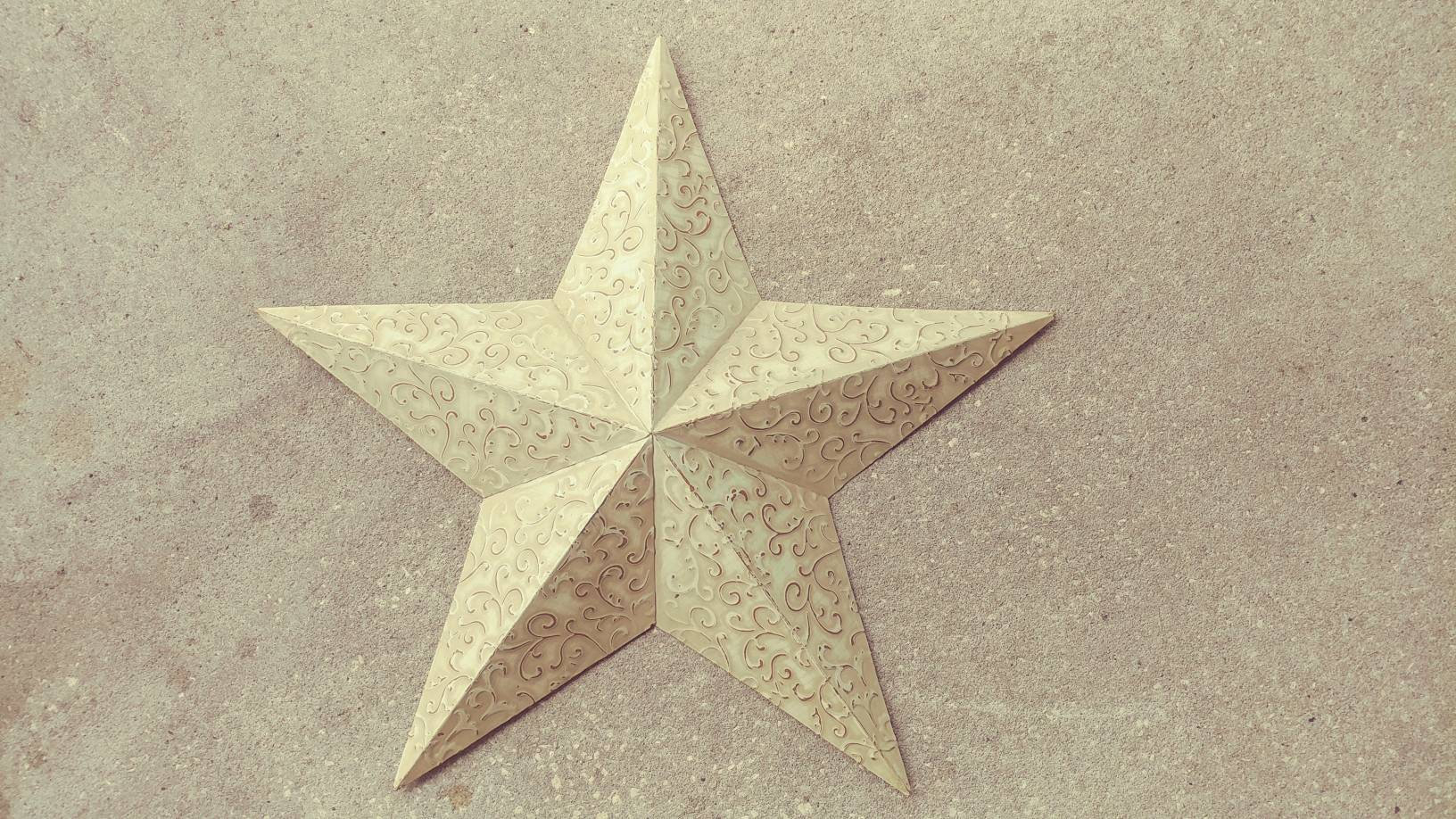 Vintage Star Wall Decor With Raised Embossed Old Ceiling Tile Paisley Pattern For Raised Star Wall Decor (View 3 of 30)