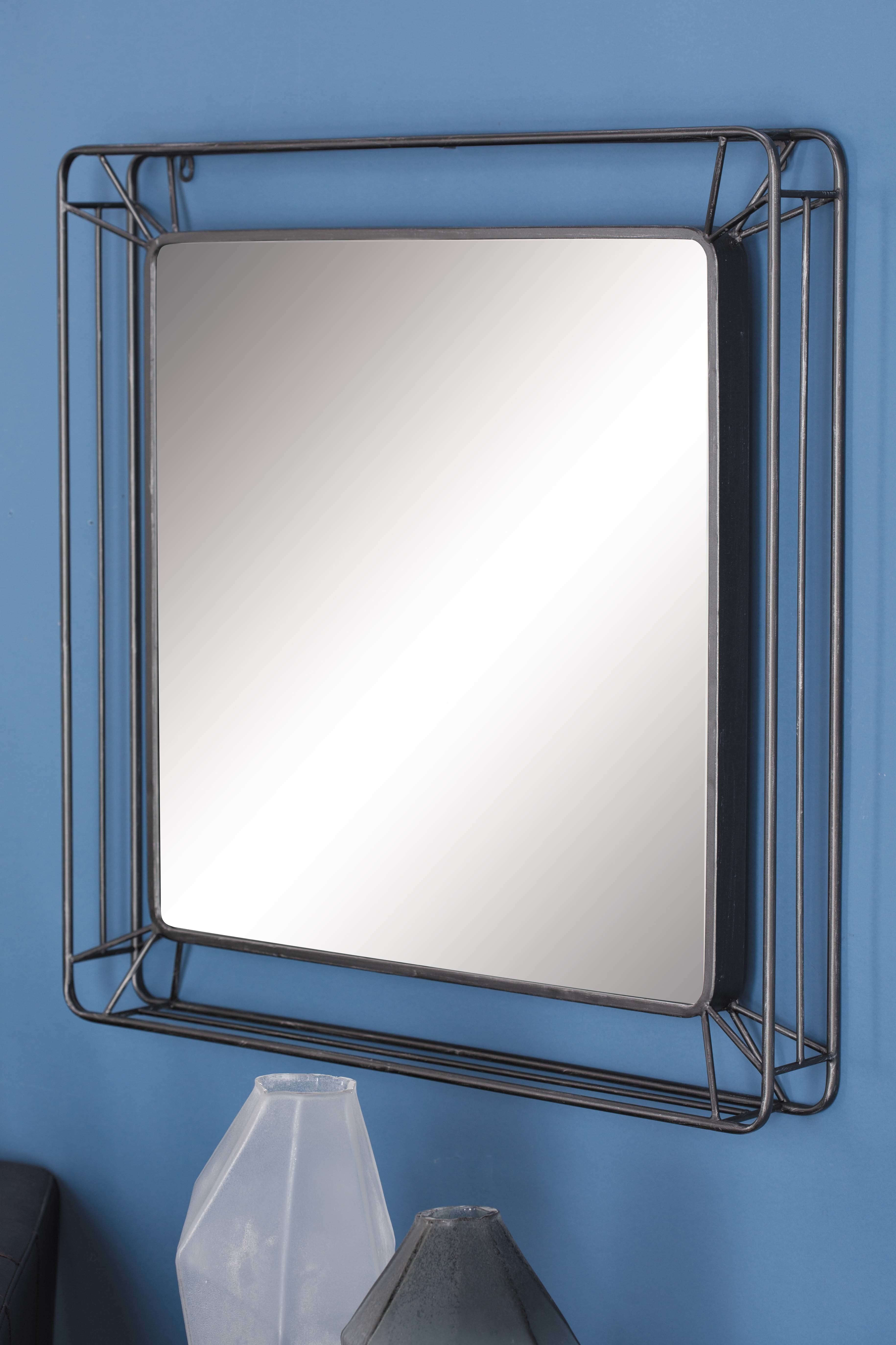 Visconti Metal Wall Mirror intended for Koeller Industrial Metal Wall Mirrors (Image 27 of 30)