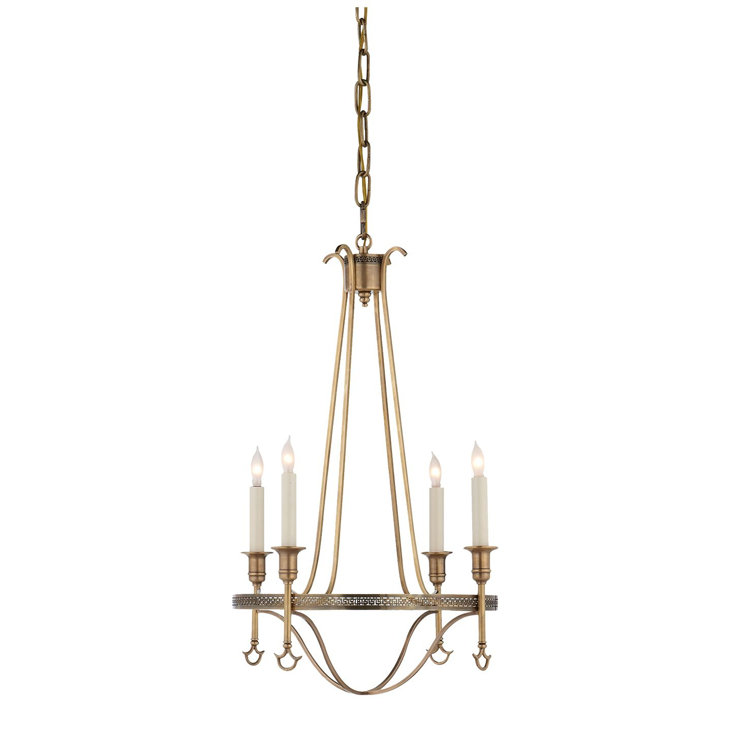 Visual Comfort Sr 5140Hab John Rosselli Traditional Savannah pertaining to Oriana 4-Light Single Geometric Chandeliers (Image 30 of 30)