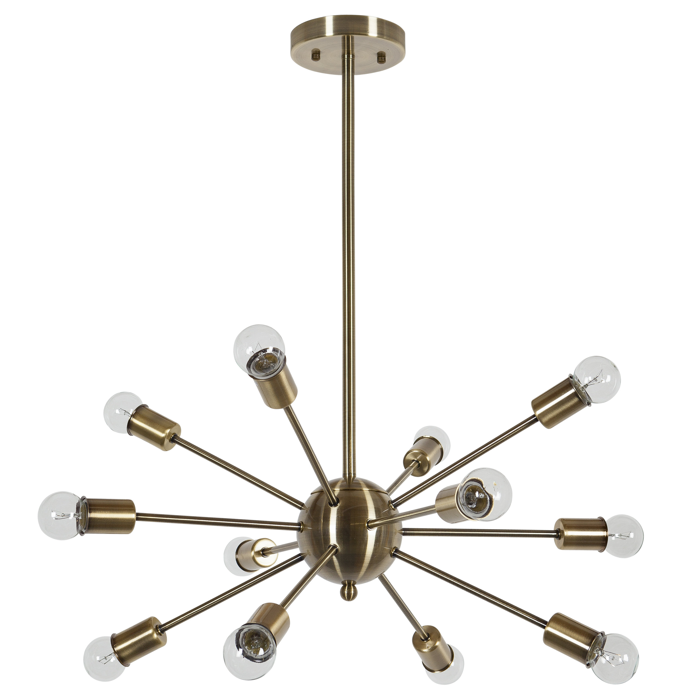 Vroman 12 Light Sputnik Chandelier Within Defreitas 18 Light Sputnik Chandeliers (View 11 of 30)