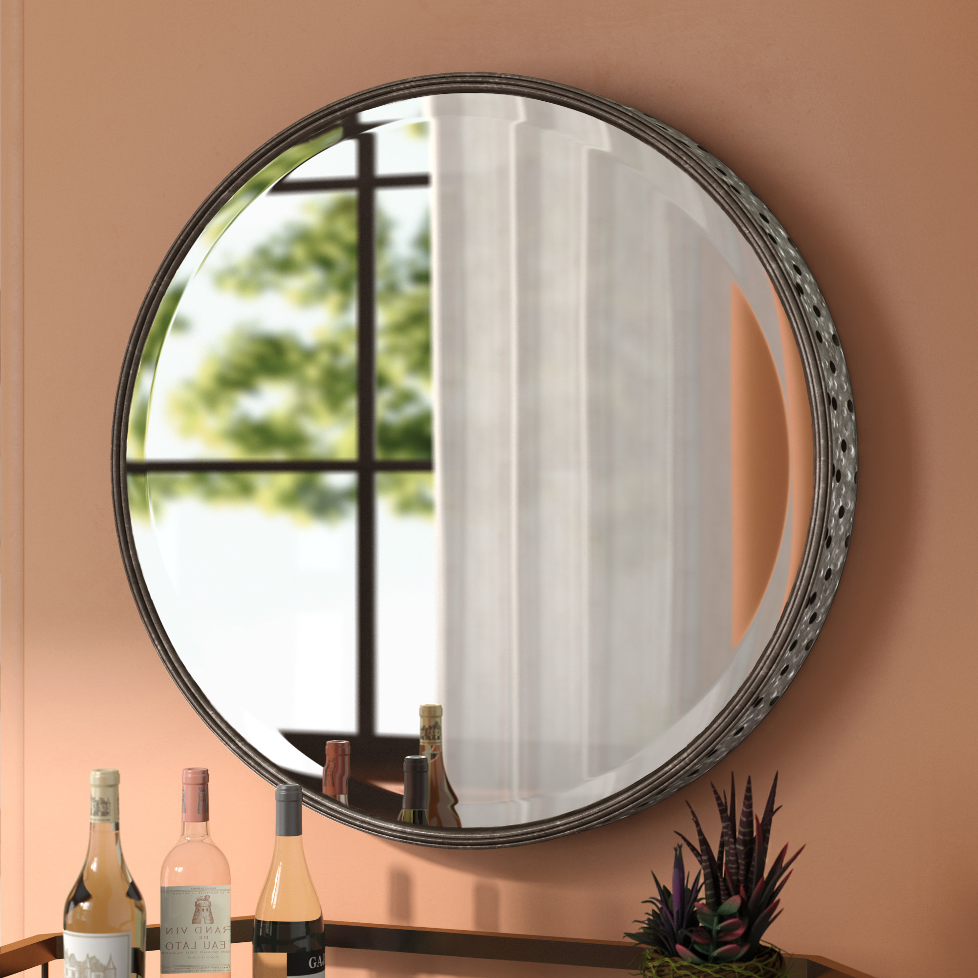 Wade Logan Laureldale Accent Mirror & Reviews | Wayfair with Minerva Accent Mirrors (Image 29 of 30)