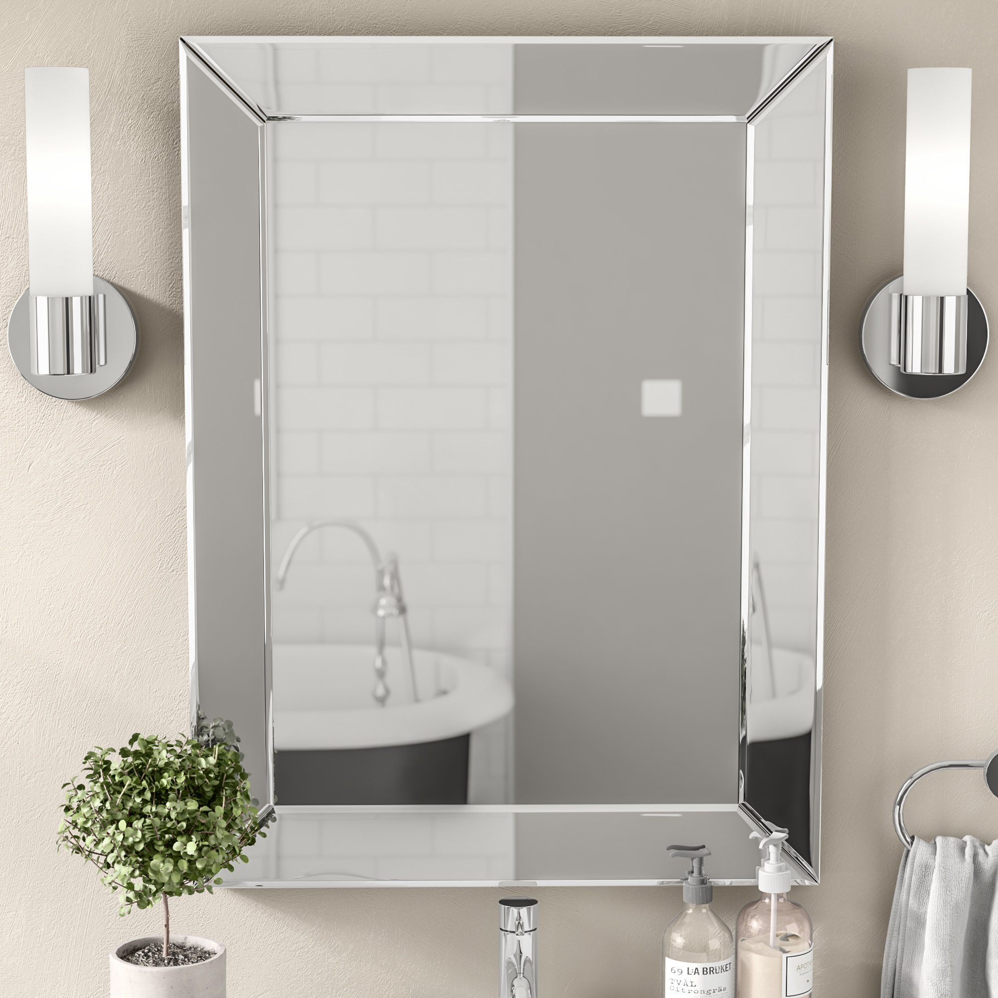 Wade Logan Mirrors You'll Love In 2019 | Wayfair Regarding Pennsburg Rectangle Wall Mirror By Wade Logan (View 11 of 30)