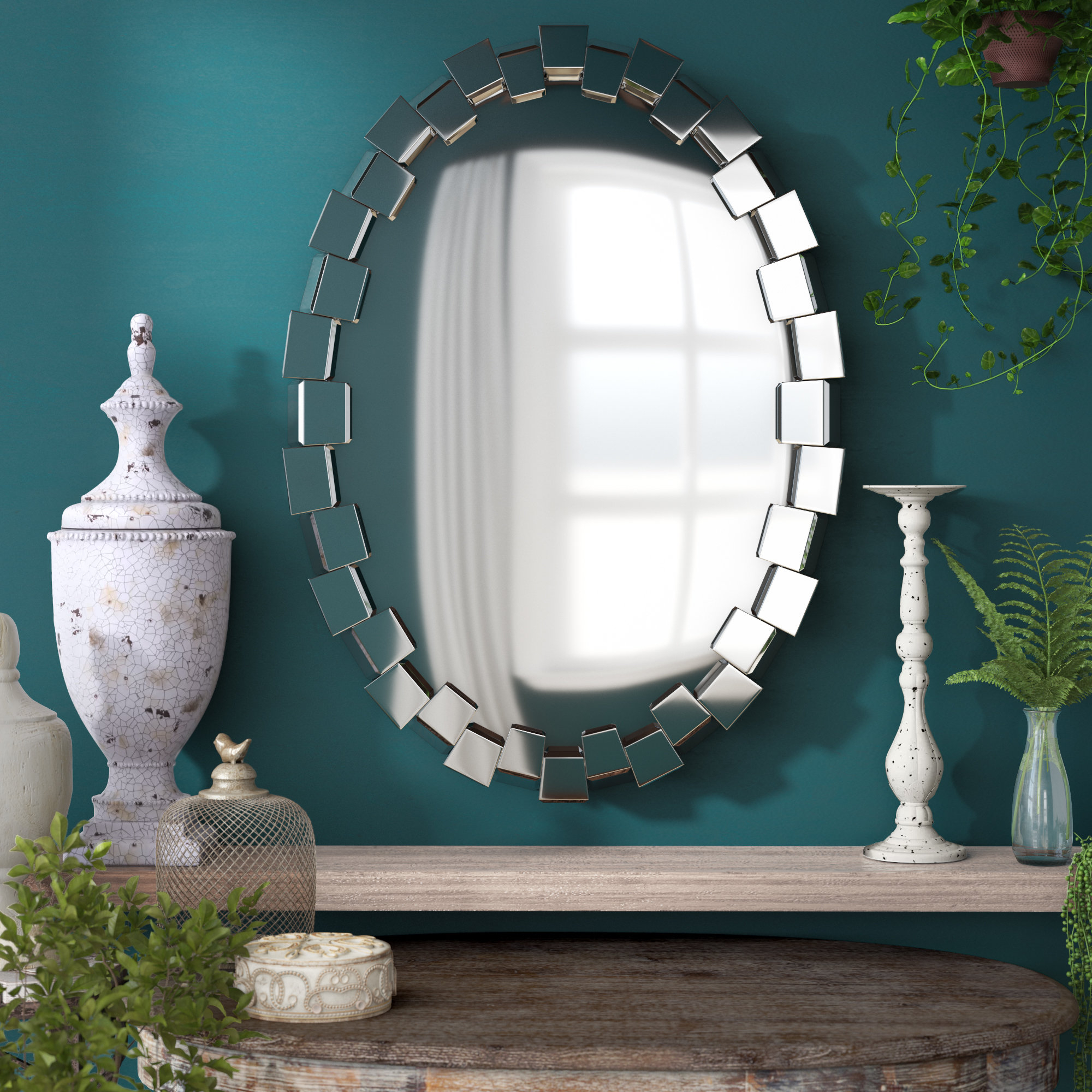 Wade Logan Pennsburg Accent Wall Mirror In Pennsburg Rectangle Wall Mirror By Wade Logan (View 3 of 30)