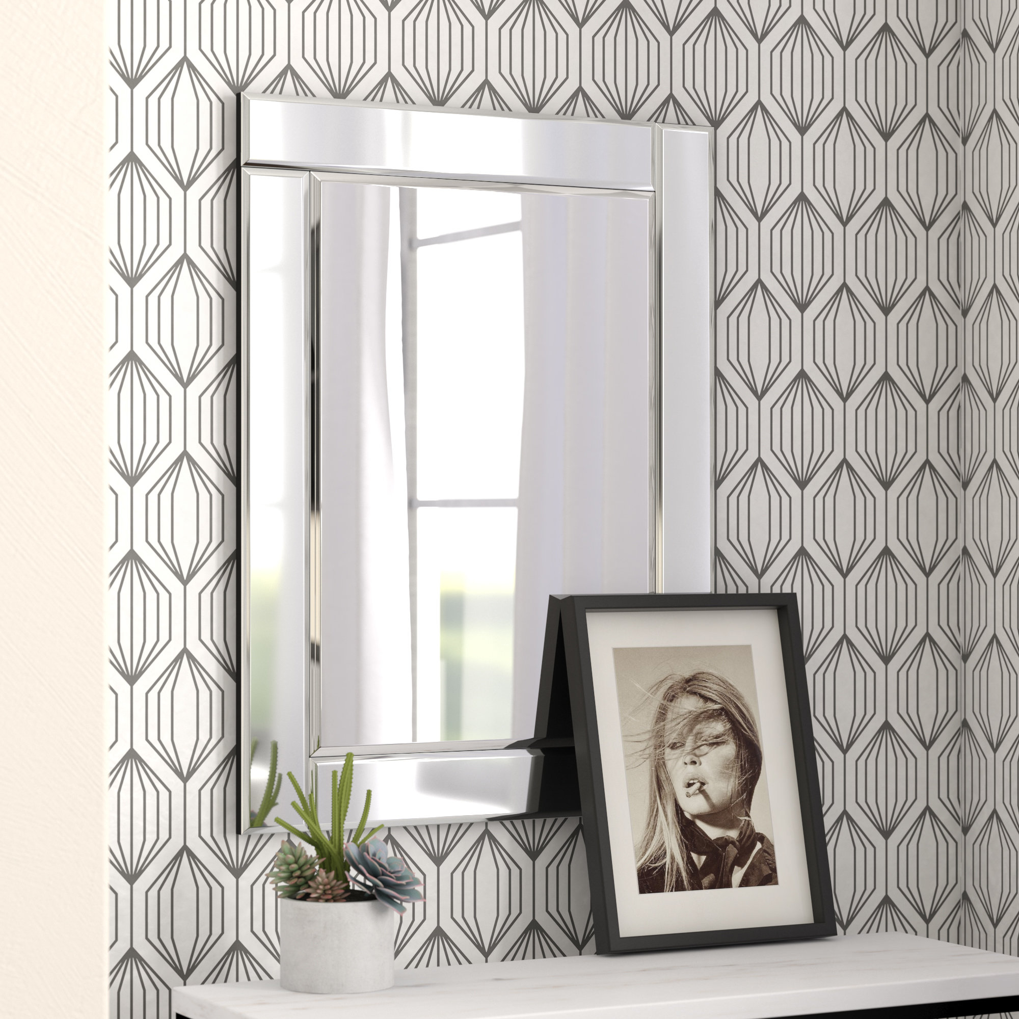 Wade Logan Rectangle Accent Wall Mirror & Reviews | Wayfair With Rectangle Accent Wall Mirrors (View 22 of 30)