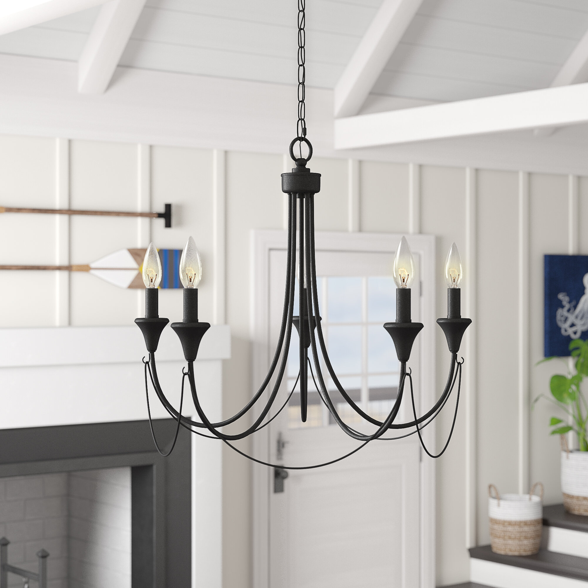 Walczak 5-Light Candle Style Chandelier with regard to Shaylee 5-Light Candle Style Chandeliers (Image 28 of 30)