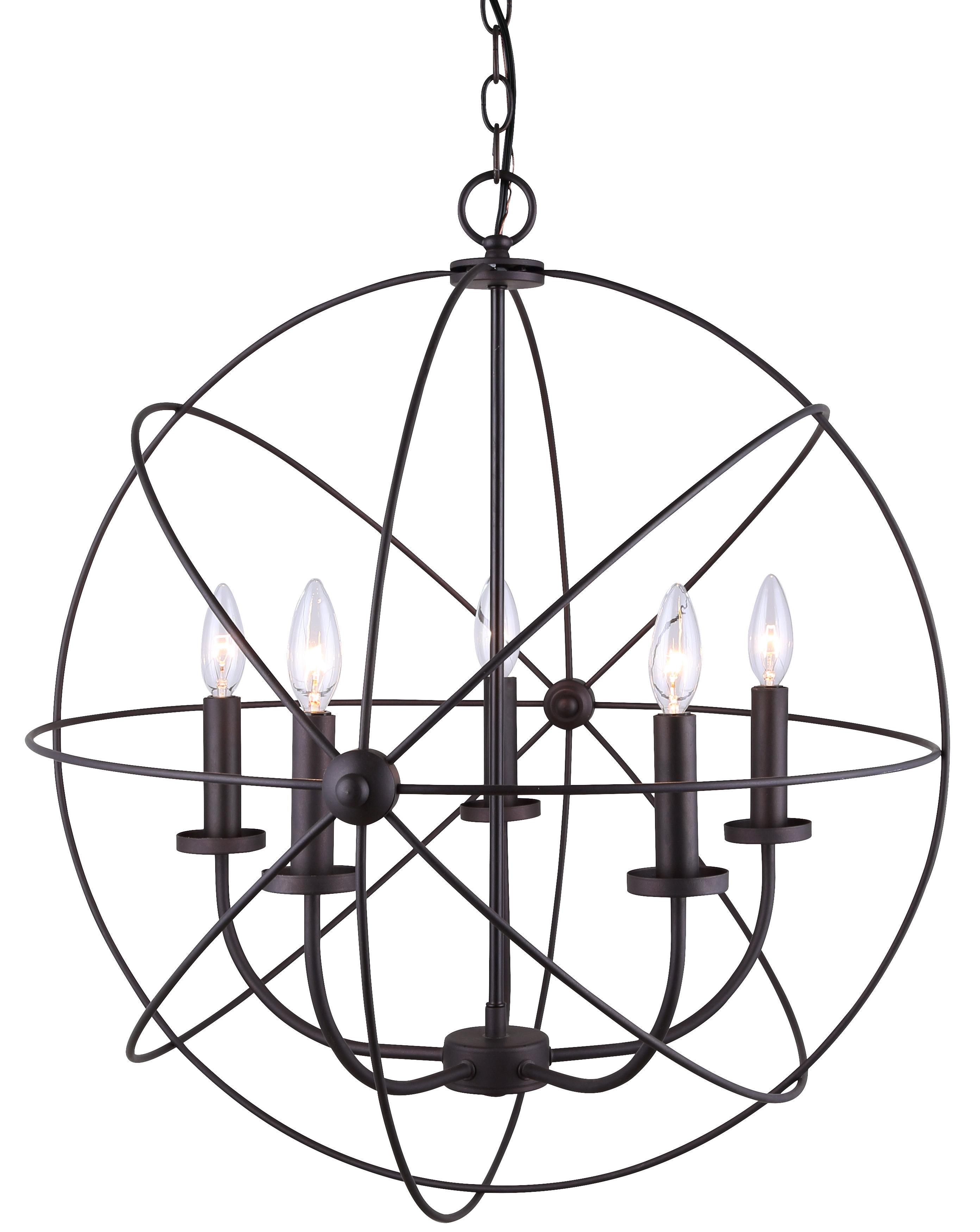 Waldron 5-Light Globe Chandelier inside Waldron 5-Light Globe Chandeliers (Image 28 of 30)