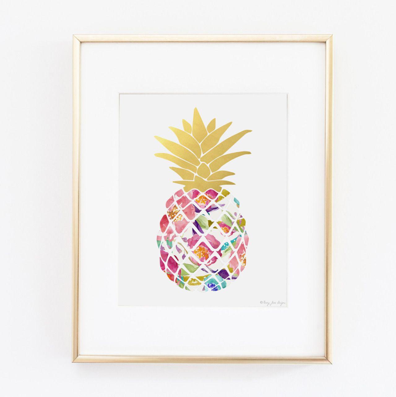 Wall Art Design Ideas, Colroful Fruit Pineapple Wall Art Throughout Pineapple Wall Decor (View 9 of 30)