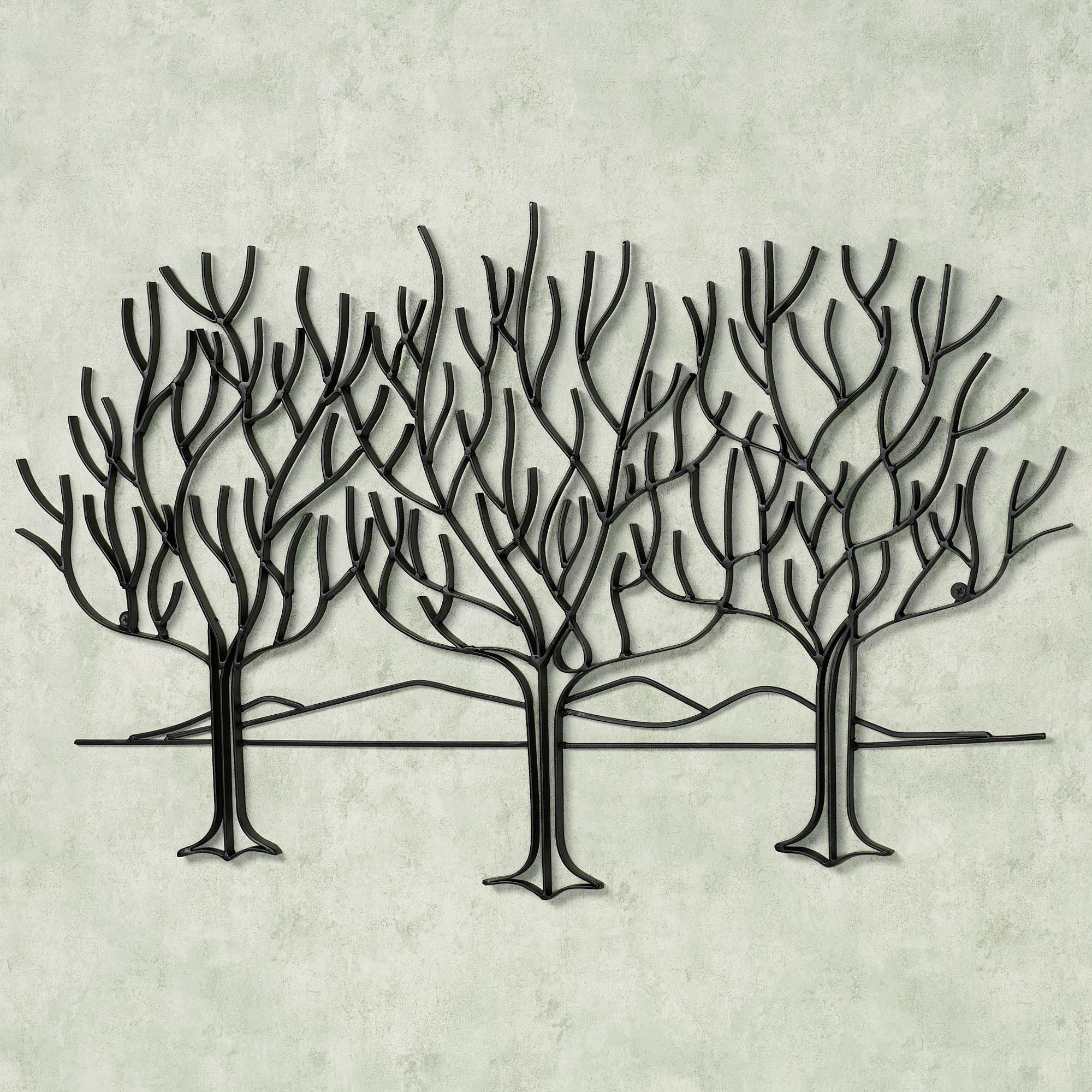 Wall Art Designs Metal Trees Black Olive Abstract Design Pertaining To Olive/gray Metal Wall Decor (View 6 of 30)