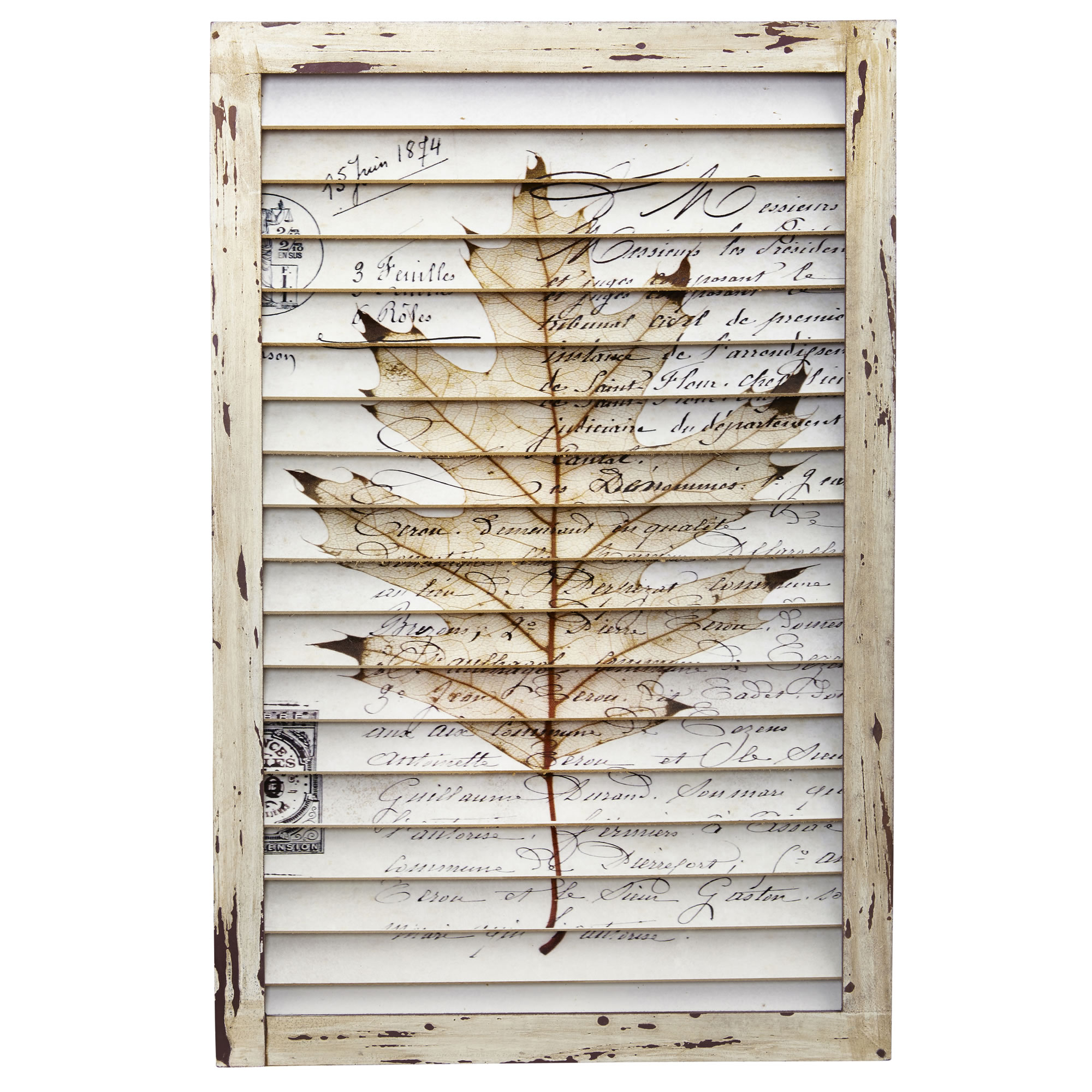 Wall Art Maple Leaf Window Shutter Wall Decor Country Kitchen Home Decor Within Shutter Window Hanging Wall Decor (View 28 of 30)