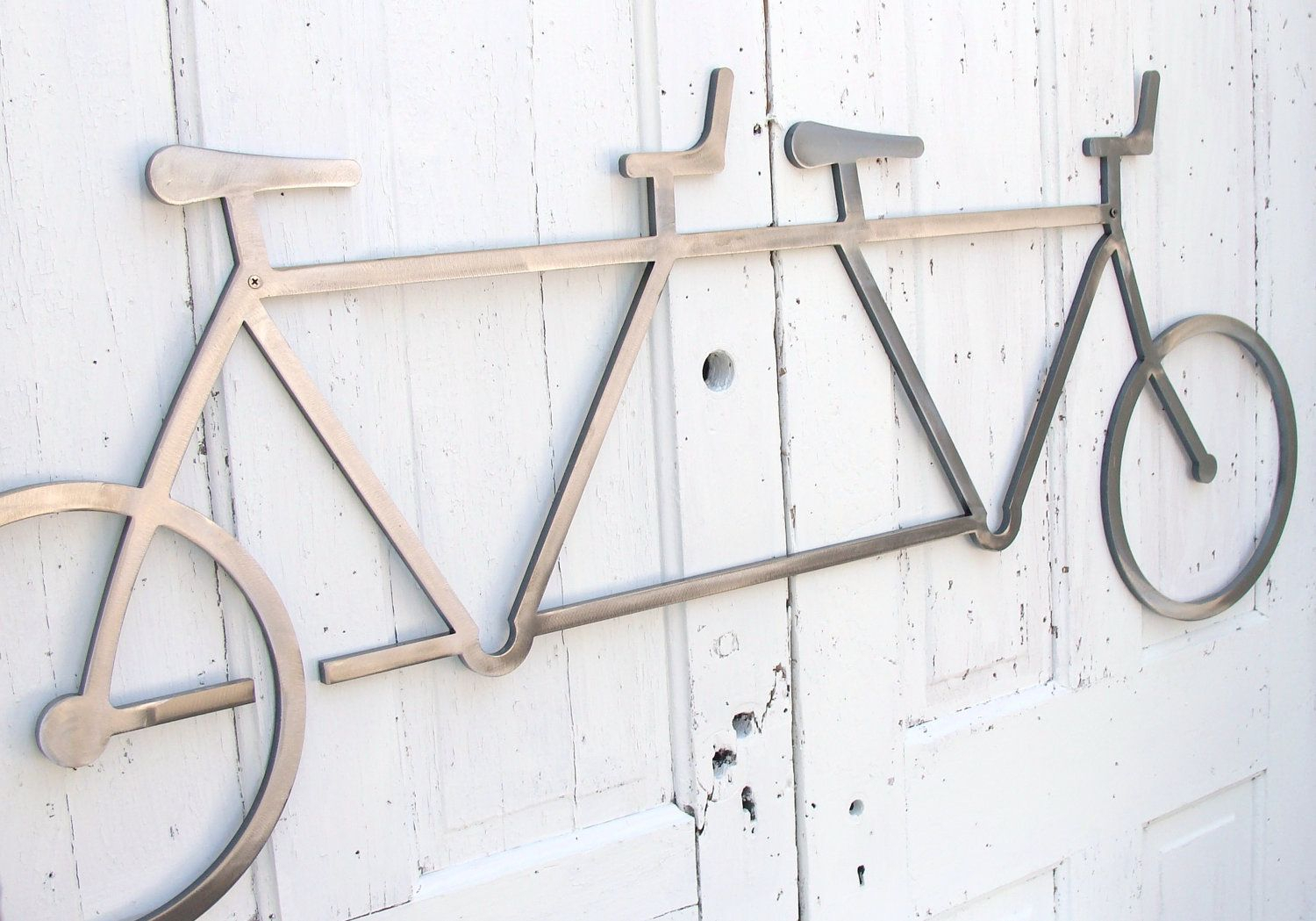 Wall Art Steel Tandem Bicycle, Large Hanging Tandem, Tandem Pertaining To Large Modern Industrial Wall Decor (Photo 17 of 30)
