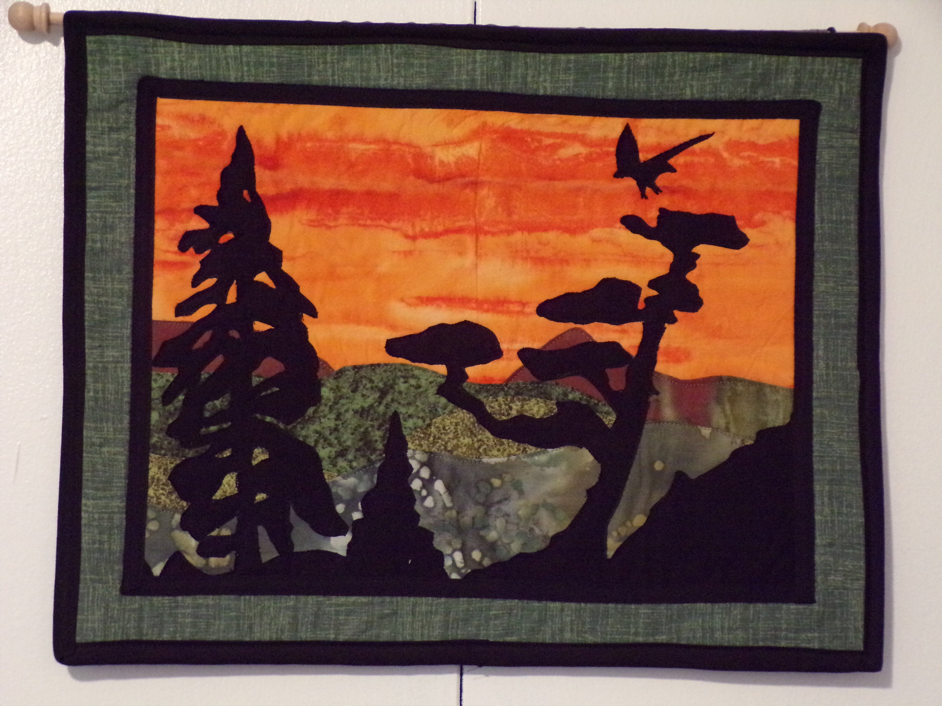 Wall Art, Wall Decor, Eagle's Landing Appliqued Quilt Wall With Regard To Landing Art Wall Decor (View 7 of 30)
