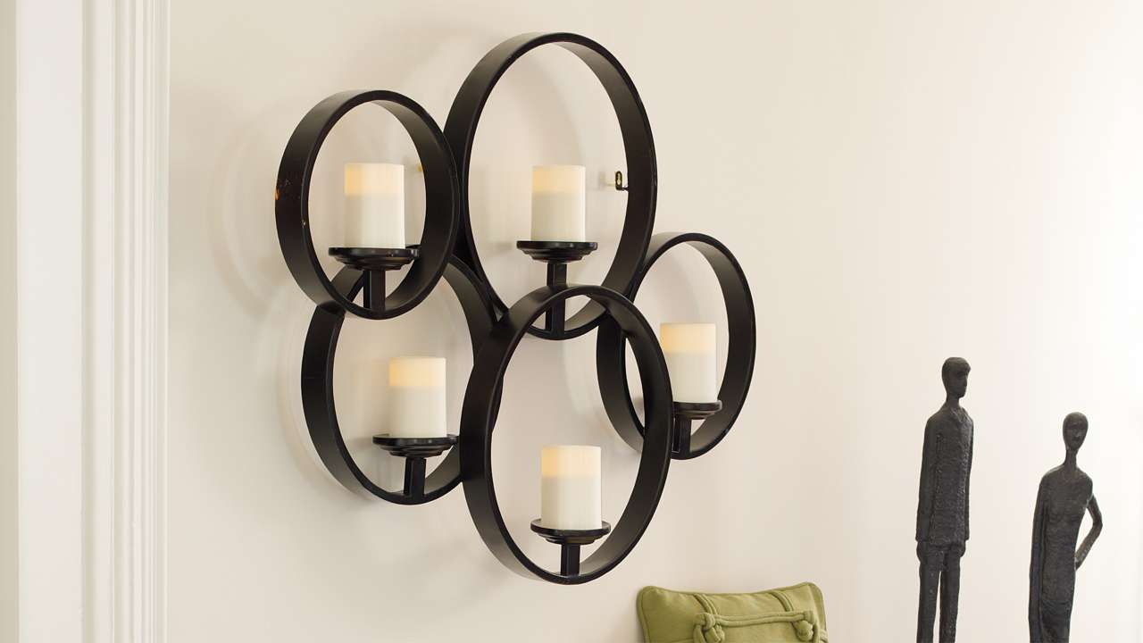 Wall Candle Holders Decorative Design – Interior Aura within Ornamental Wood and Metal Scroll Wall Decor (Image 28 of 30)