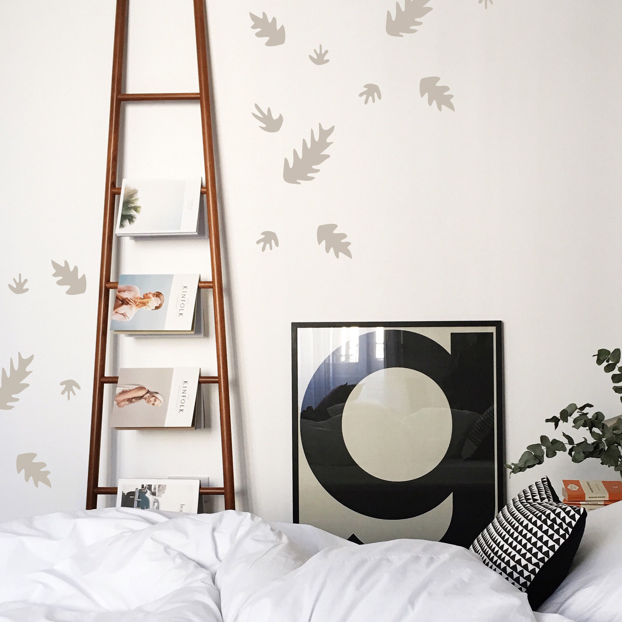 Wall Decal - Falling Leaves - Wall Sticker - Room Decor with Flowing Leaves Wall Decor (Image 30 of 30)