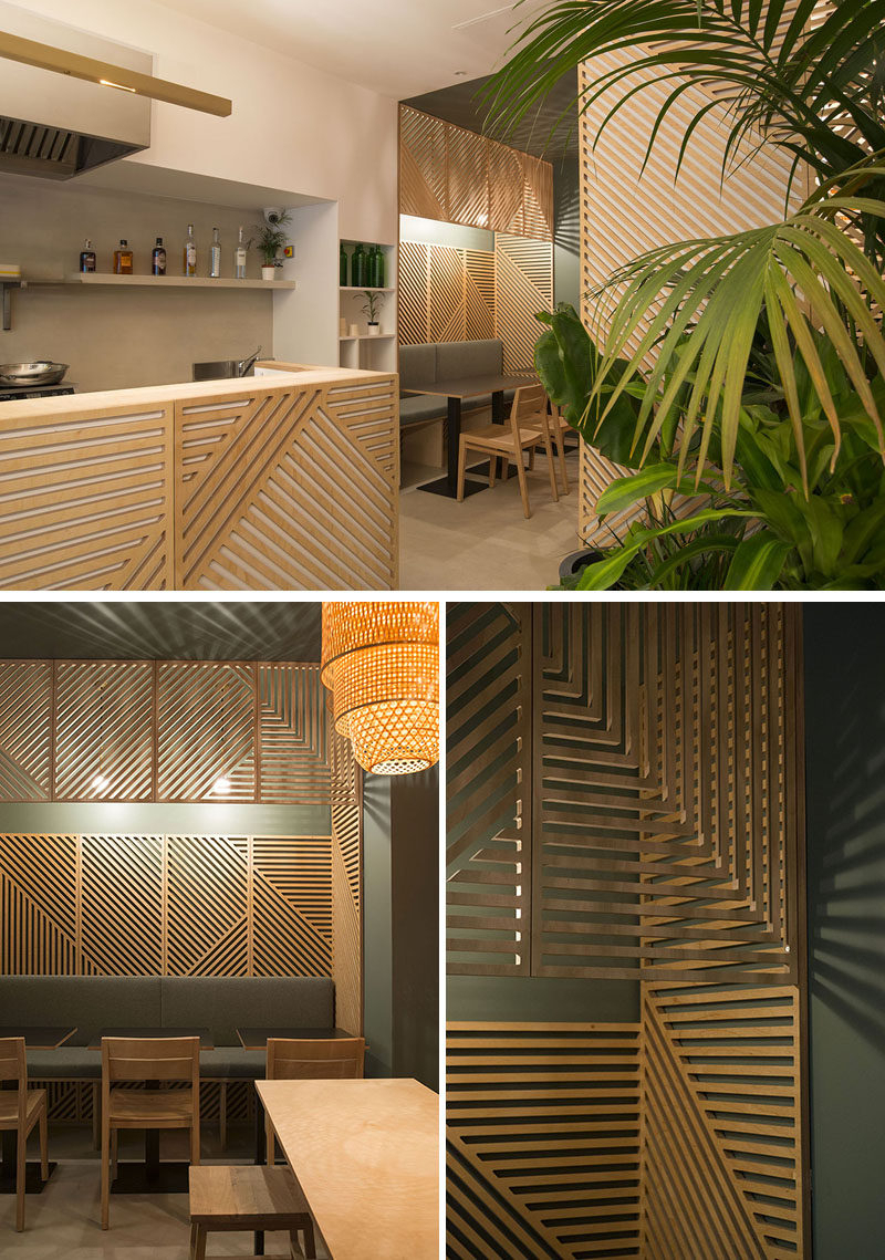 Wall Decor Idea – This Restaurant Covered Its Walls With Pertaining To Abstract Bar And Panel Wall Decor (Image 28 of 30)
