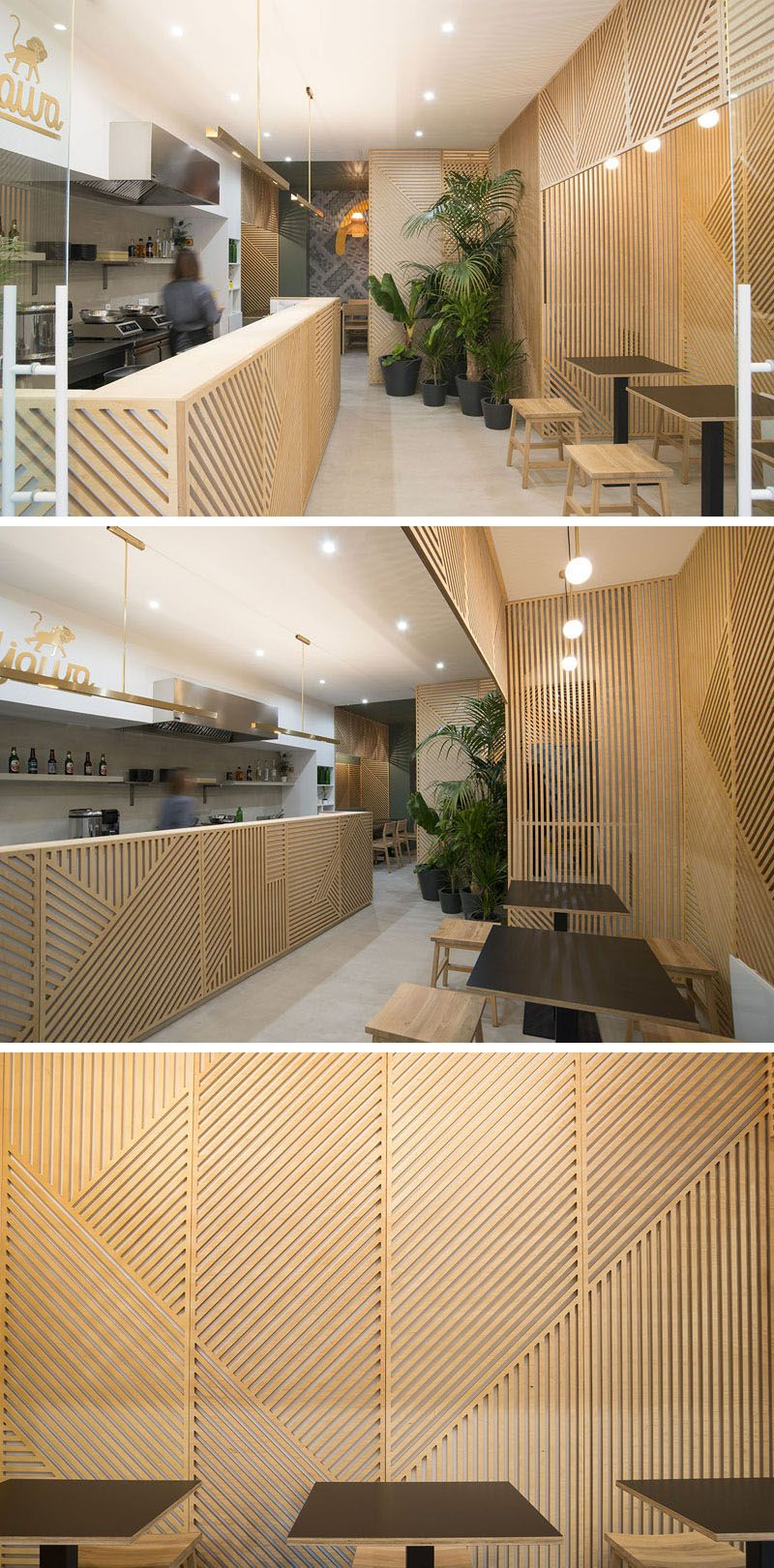 Wall Decor Idea – This Restaurant Covered Its Walls With With Regard To Abstract Bar And Panel Wall Decor (Image 29 of 30)