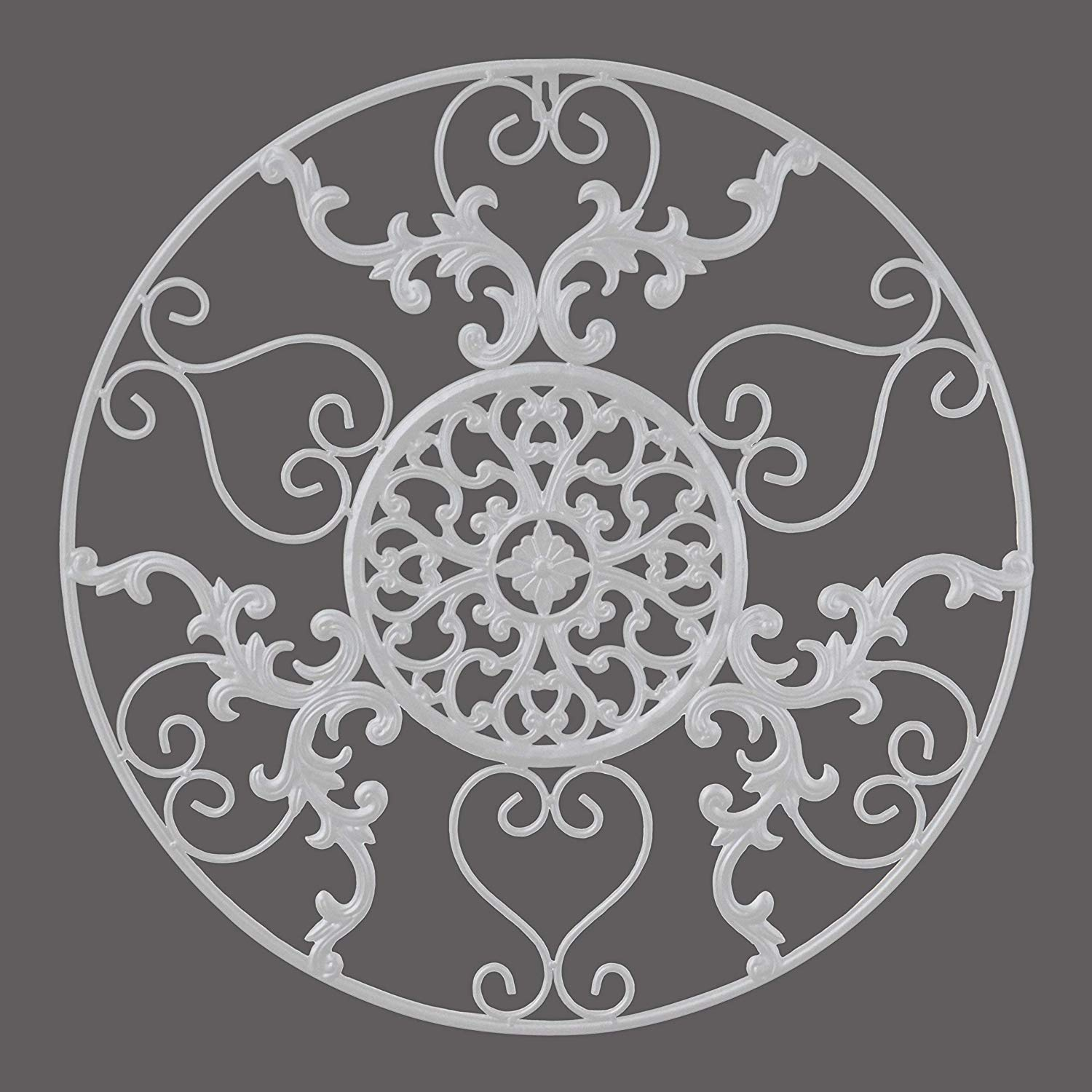 Wall Decor : White Metal Shabby Chic Modern Art Cabinet intended for Shabby Medallion Wall Decor (Image 28 of 30)