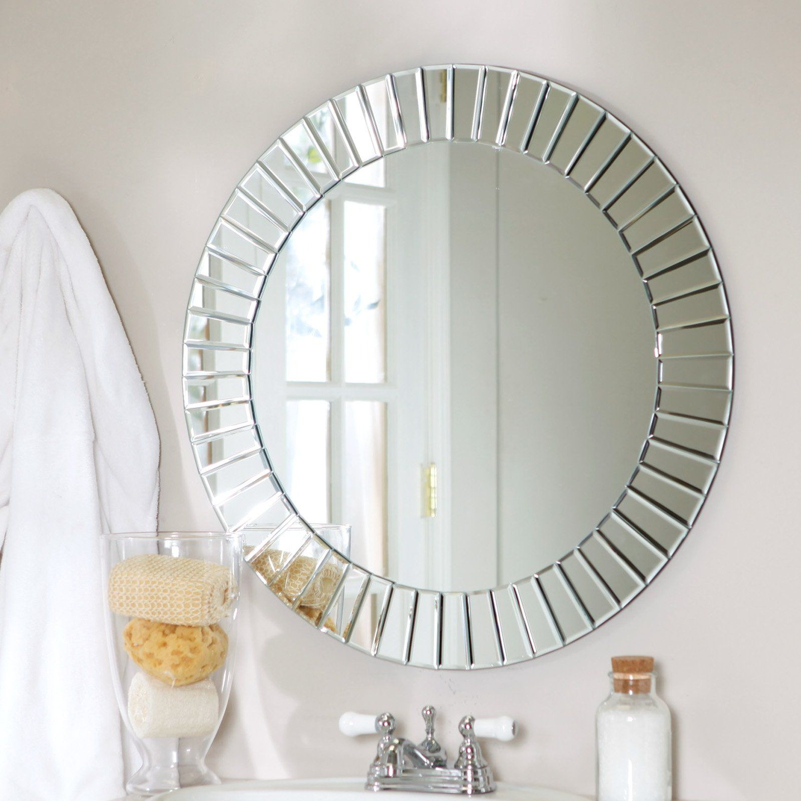 Wall Mirror Circle | Mirror In Lidya Frameless Beveled Wall Mirrors (View 3 of 30)