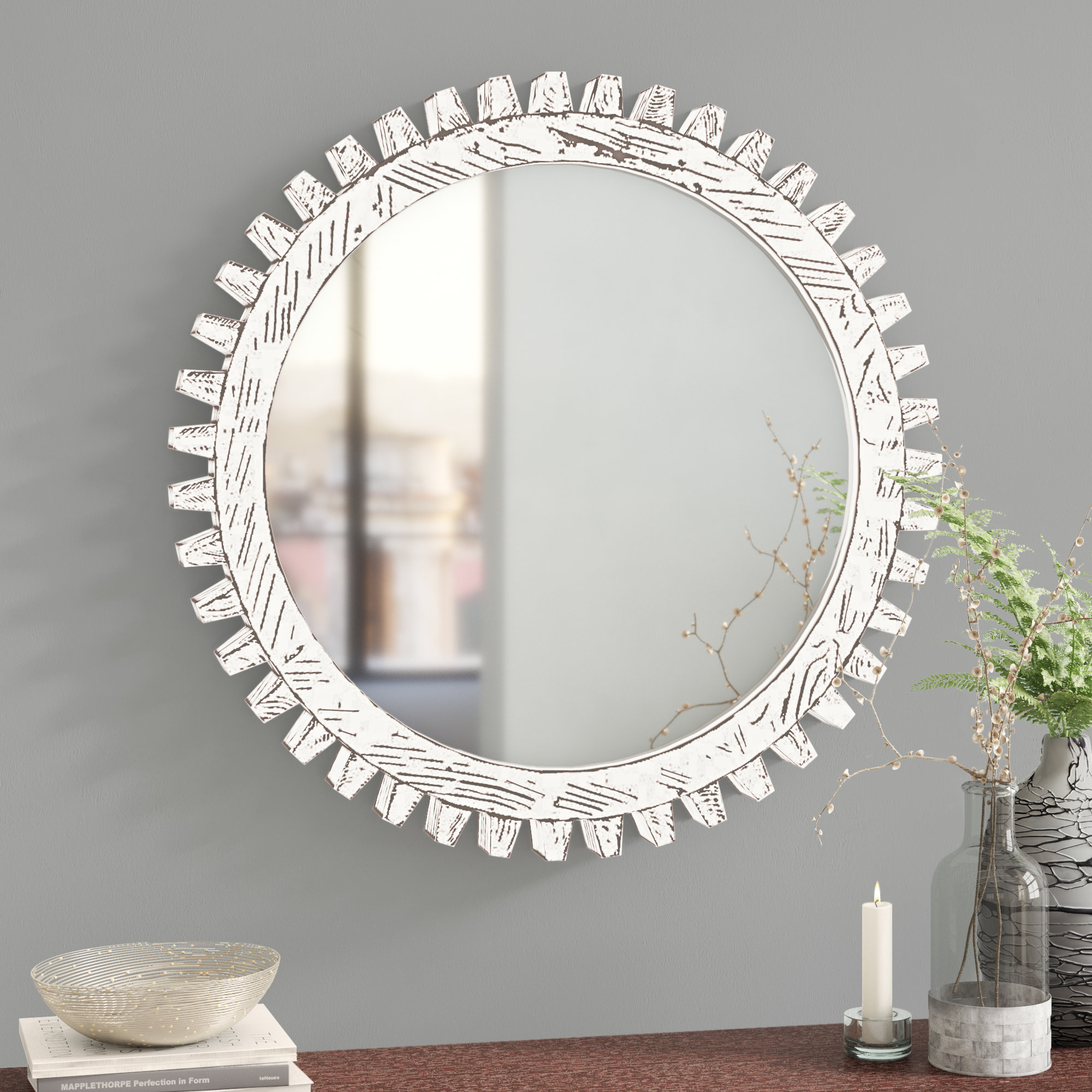 Wall Mirror Pertaining To Tata Openwork Round Wall Mirrors (View 11 of 30)