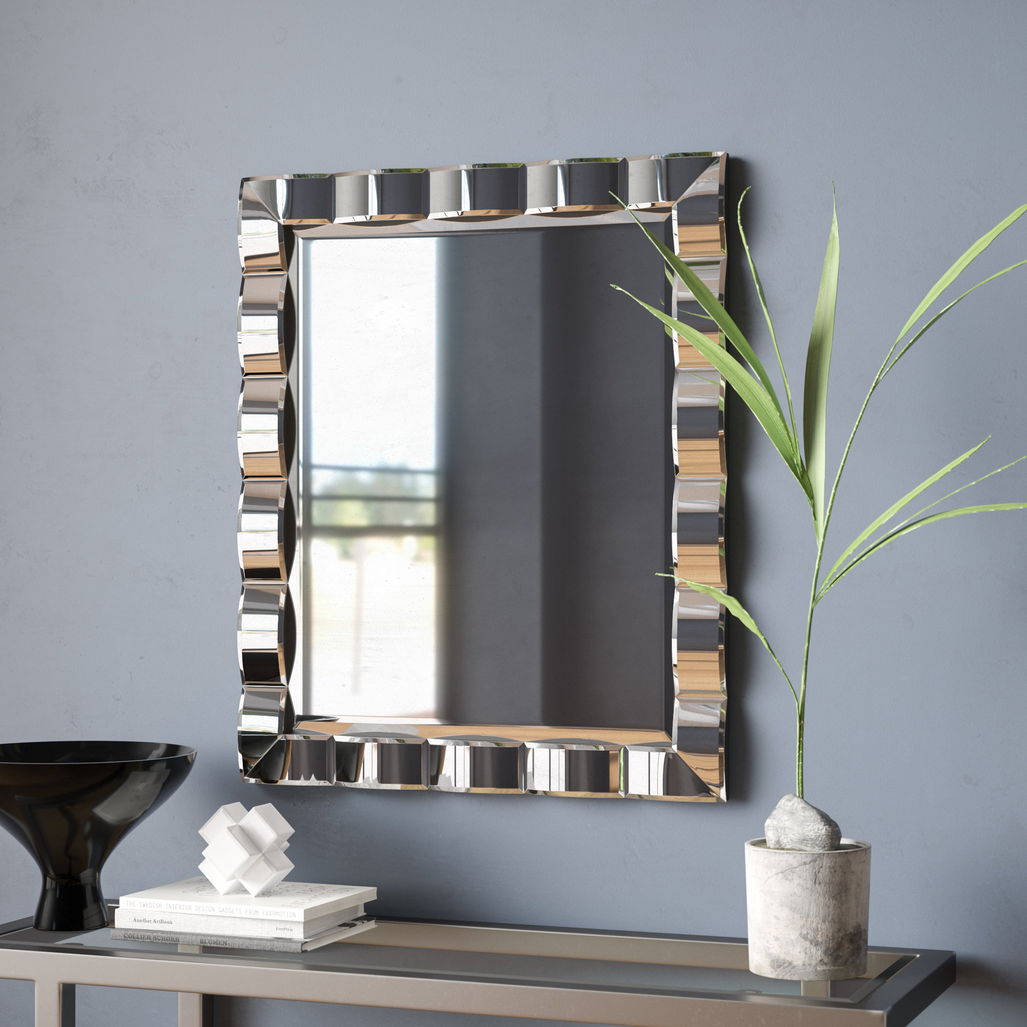 Wall Mirror With Faux Window Wood Wall Mirrors (View 24 of 30)