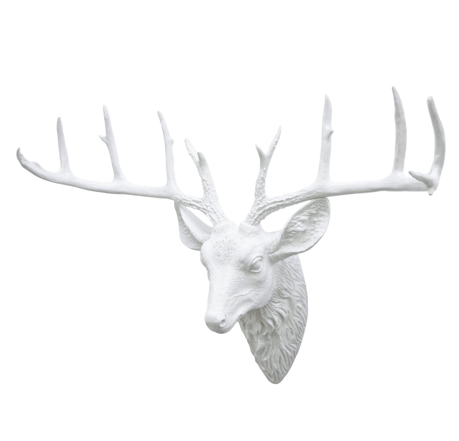 Wall Mounted Deer Head With Antlers – Interior Design Pertaining To Large Deer Head Faux Taxidermy Wall Decor (View 24 of 30)