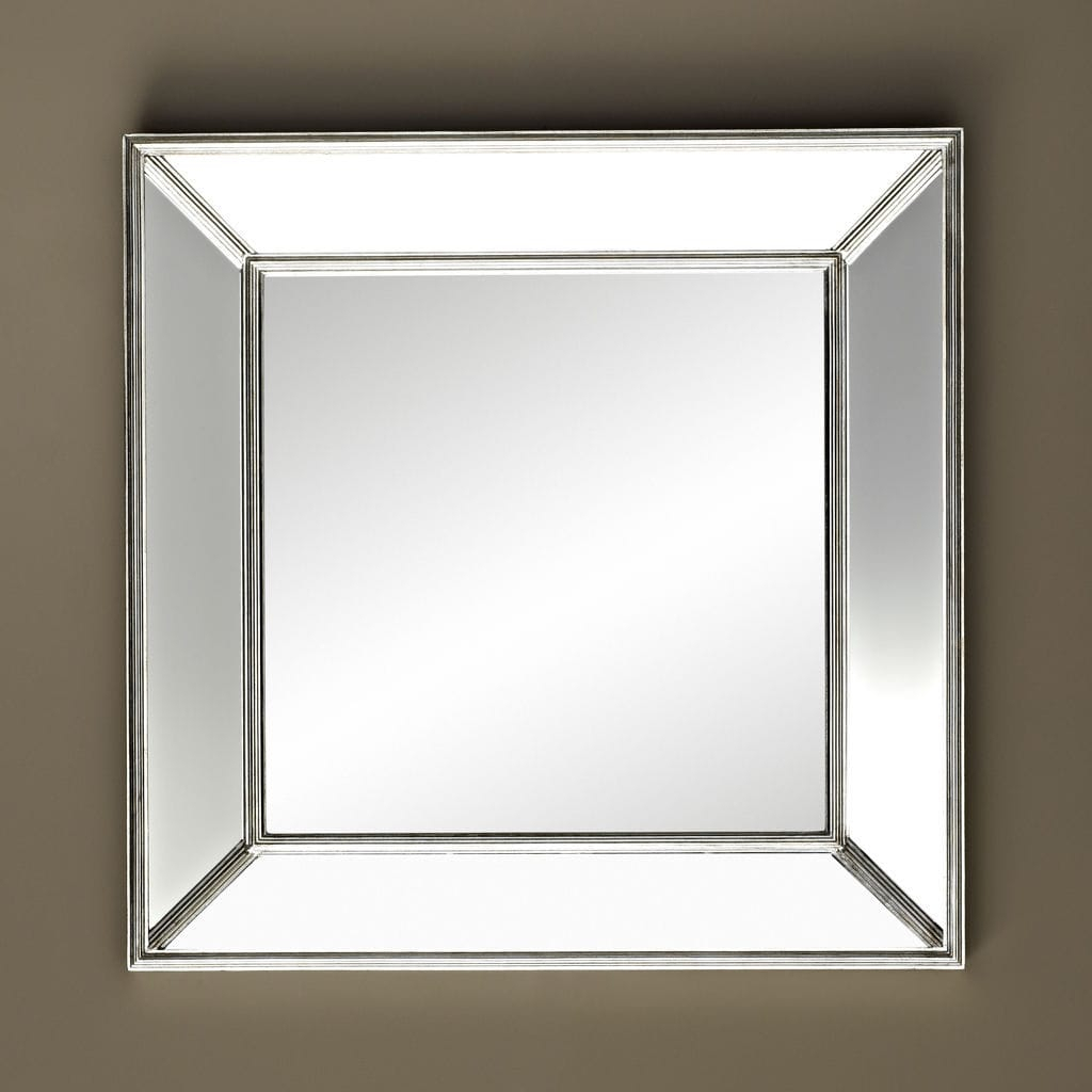 Wall Mounted Mirror / Traditional / Square / Silver – Sales With Regard To Traditional Square Glass Wall Mirrors (View 22 of 30)