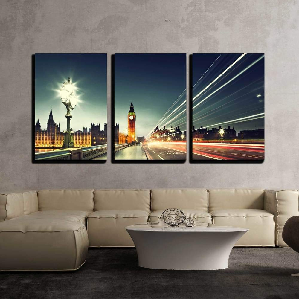 Wall26 – 3 Piece Canvas Wall Art – Military Plane Landing On Airforce Runways Against Beautiful Dusky Sky – Modern Home Decor Stretched And Framed Intended For Landing Art Wall Decor (View 29 of 30)