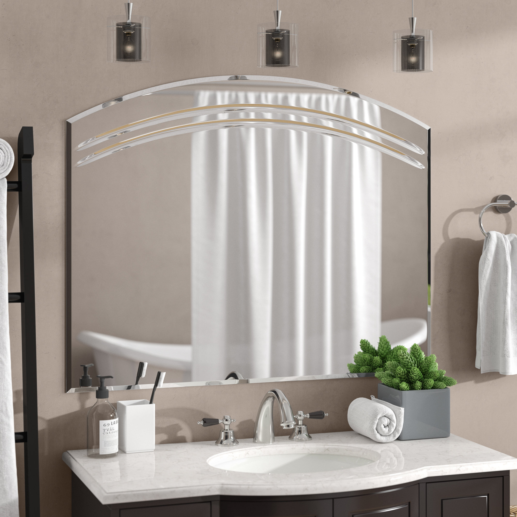 Featured Photo of Wallingford Large Frameless Wall Mirrors
