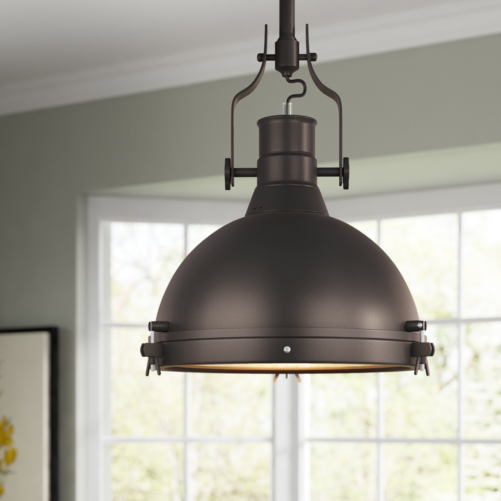 Wamblee 1 Light Single Dome Pendant For Priston 1 Light Single Dome Pendants (View 28 of 30)