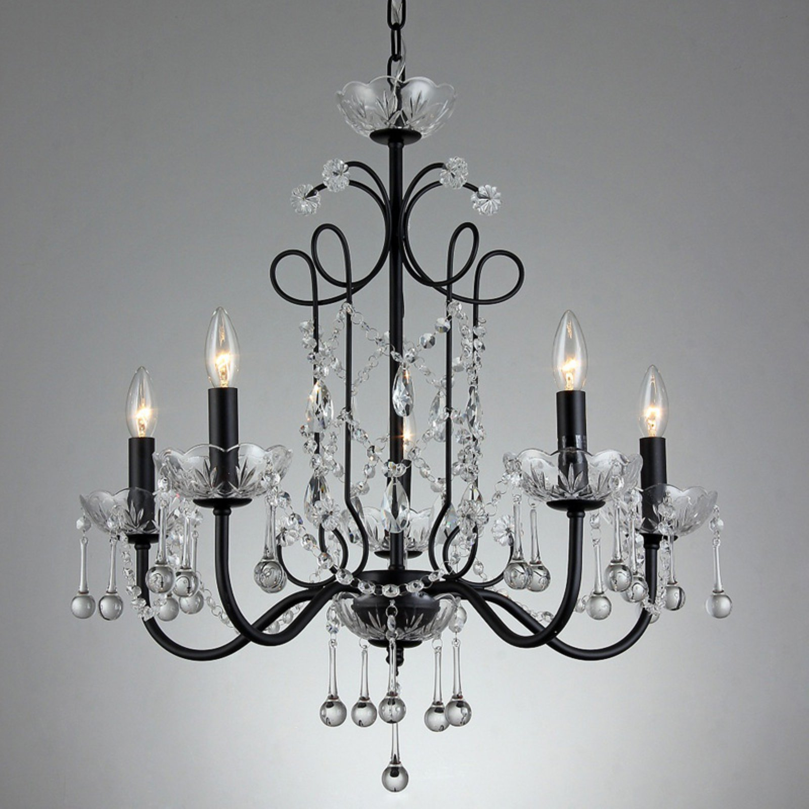 Warehouse Of Tiffany Donna Su7201-5 Chandelier | Products In in Shaylee 5-Light Candle Style Chandeliers (Image 29 of 30)