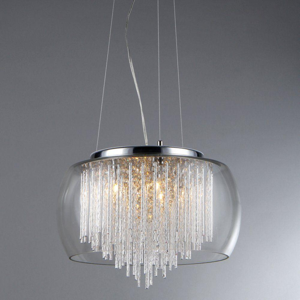 Warehouse Of Tiffany Odysseus 5-Light Crystal Chandelier With Shade within Silvia 6-Light Sputnik Chandeliers (Image 29 of 30)