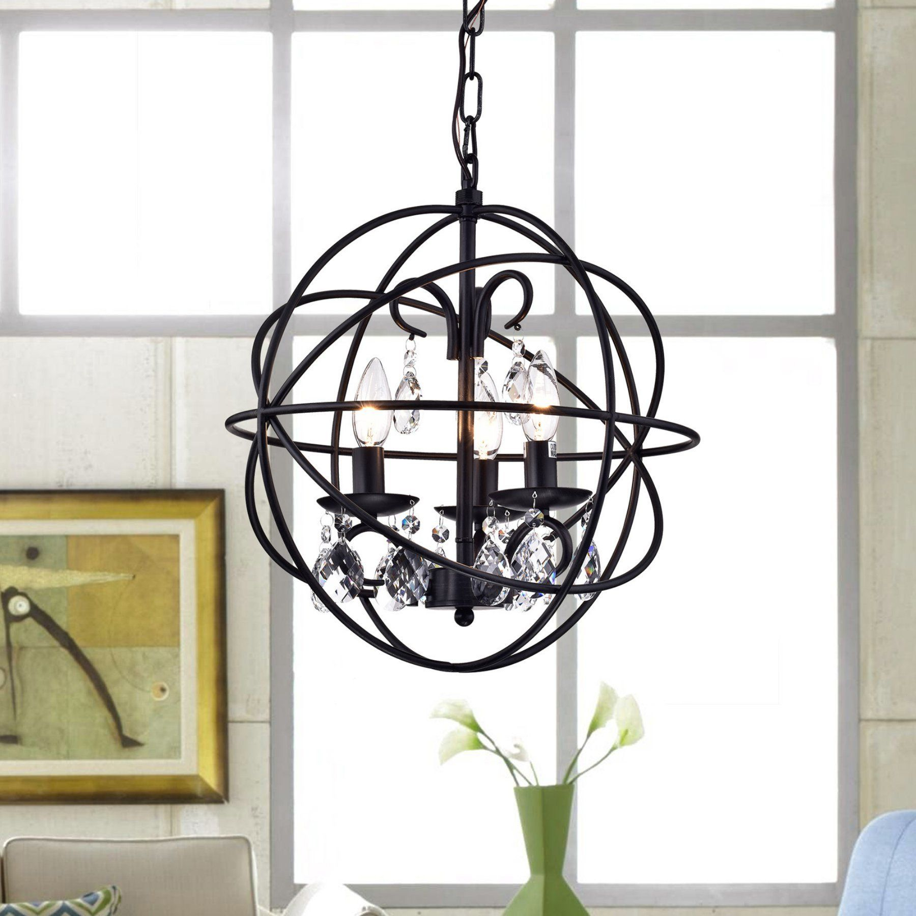 Warehouse Of Tiffany Tess Rl8158Bl Chandelier - Rl8158Bl pertaining to Waldron 5-Light Globe Chandeliers (Image 29 of 30)