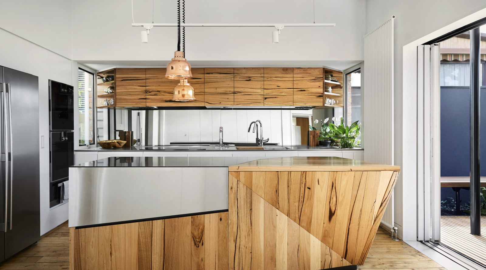 Warm Meets Semi Industrial In This Kitchen With A… | Trends With Regard To Austin Industrial Accent Mirrors (View 29 of 30)