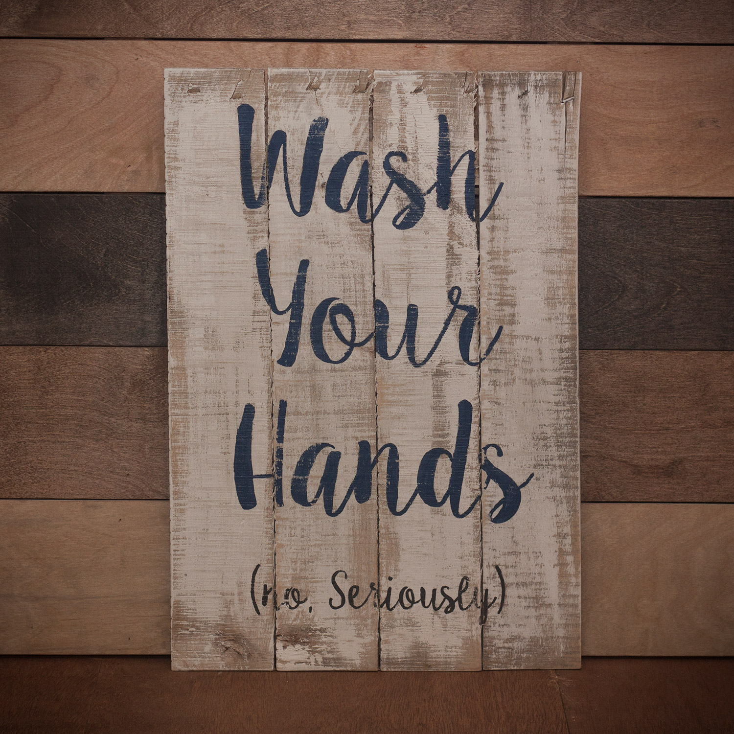 Wash Your Hands (no, Seriously) – Handcrafted Sign In Personalized Mint Distressed Vintage Look Laundry Metal Sign Wall Decor (View 17 of 30)