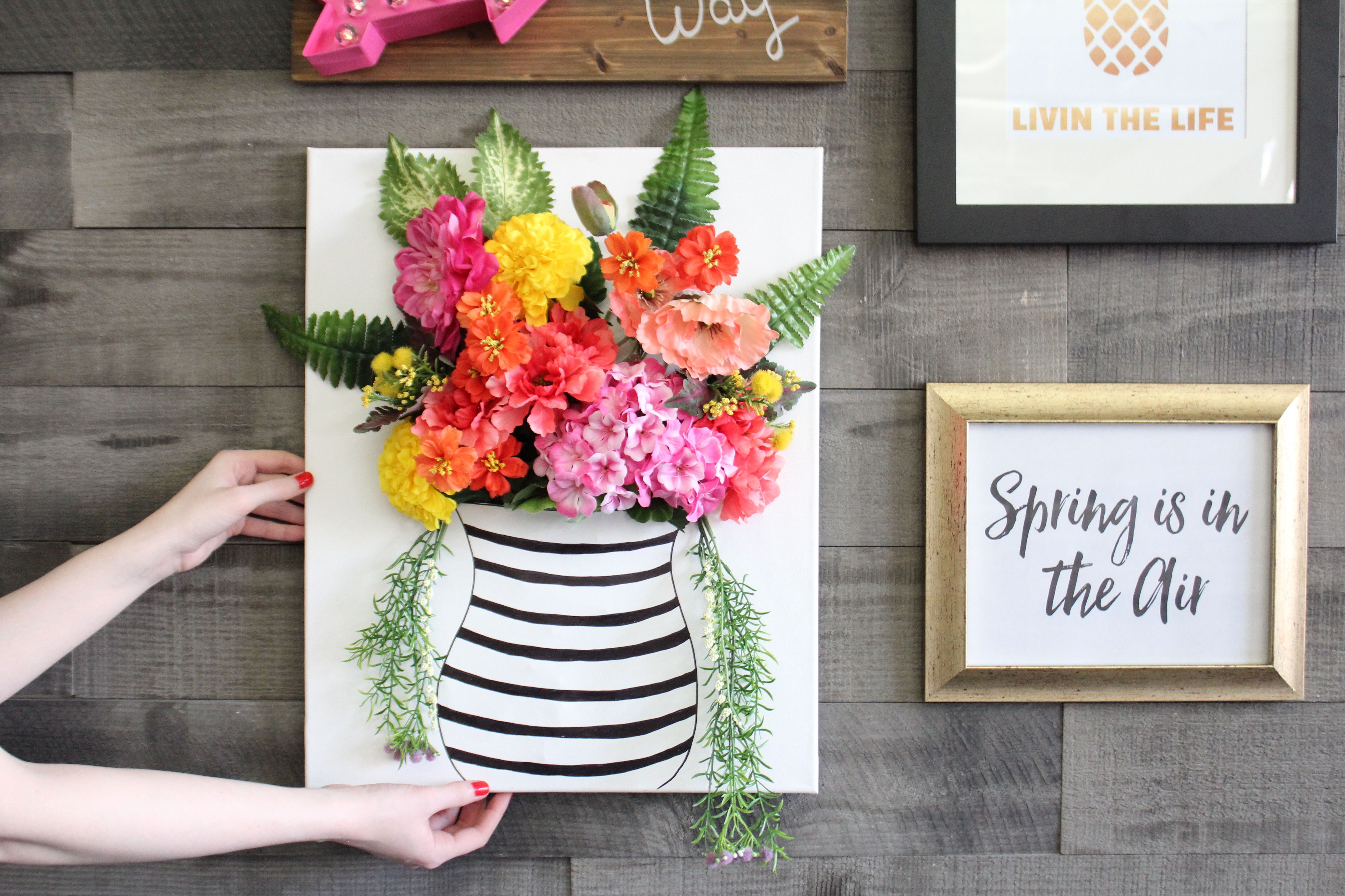 Watch How To Make Your Own 3D Floral Wall Art With This Easy in 3 Piece Ceramic Flowers Wall Decor Sets (Image 30 of 30)
