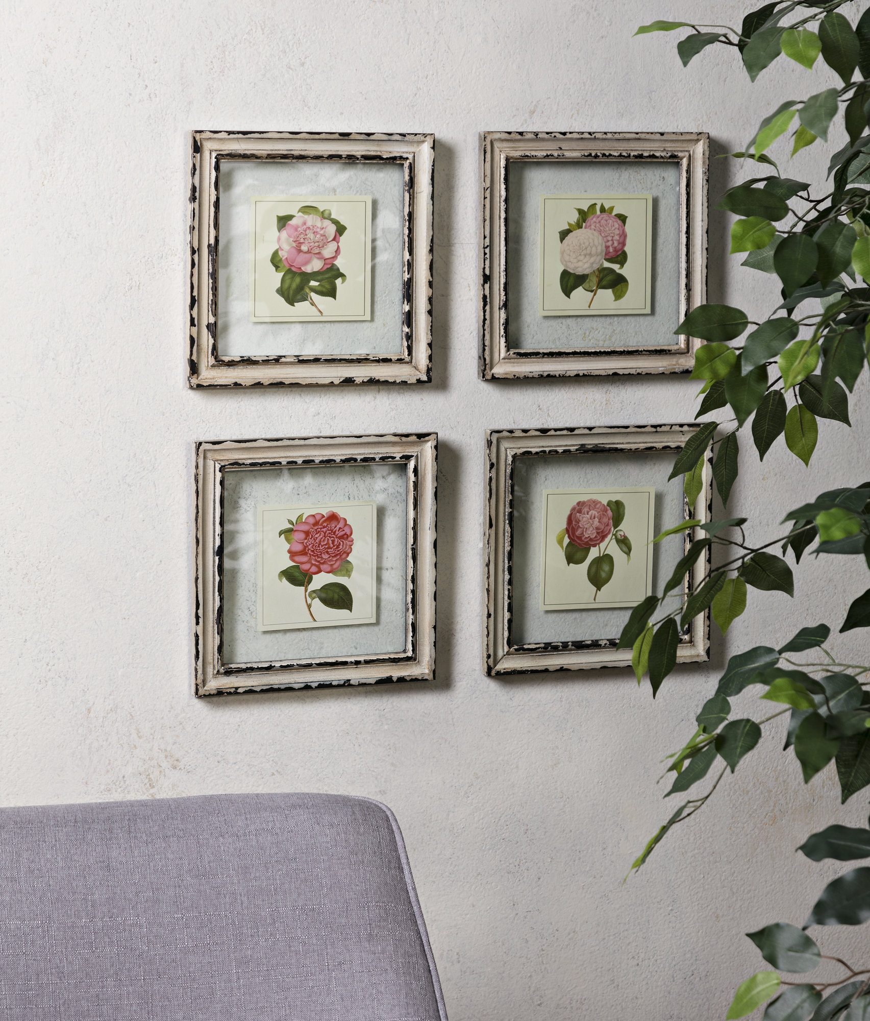 Watercolor Floral Wall Art | Wayfair Throughout Floral Wreath Wood Framed Wall Decor (View 13 of 30)