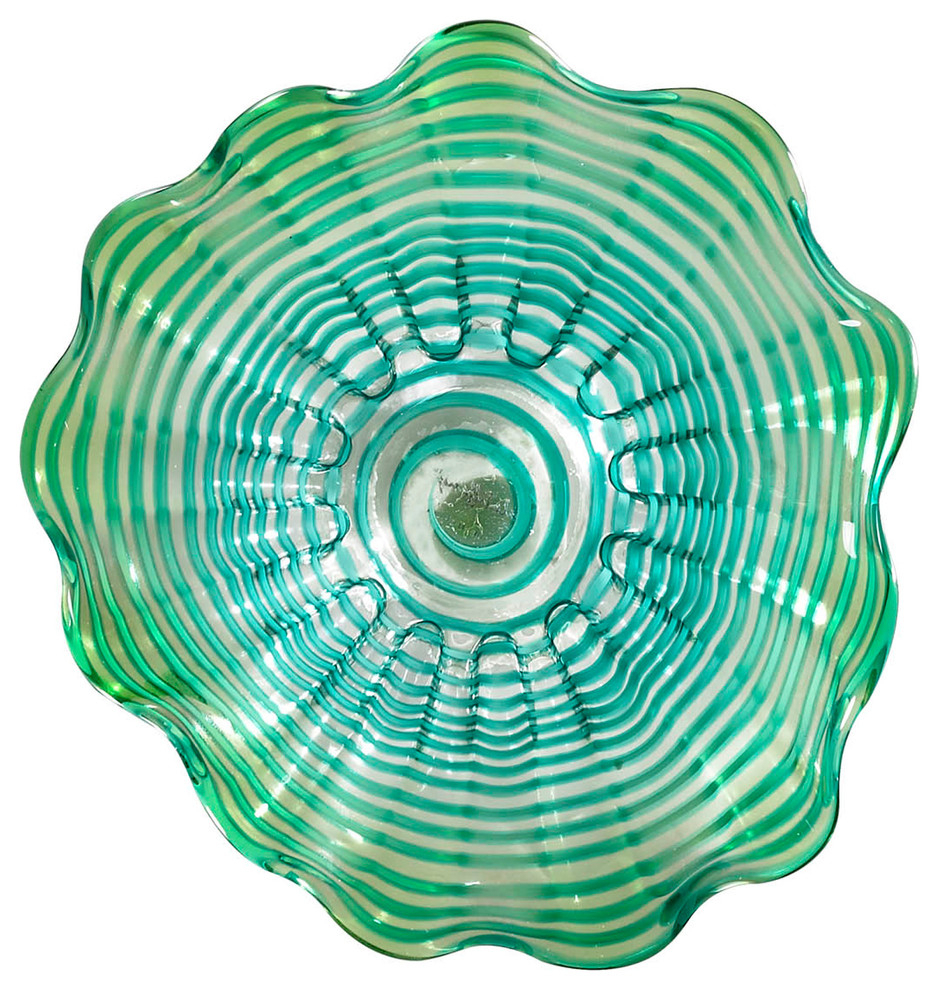 "Waterfront Hand Blown Art Glass Wall Decor, 20""d within European Medallion Wall Decor (Image 29 of 30)"